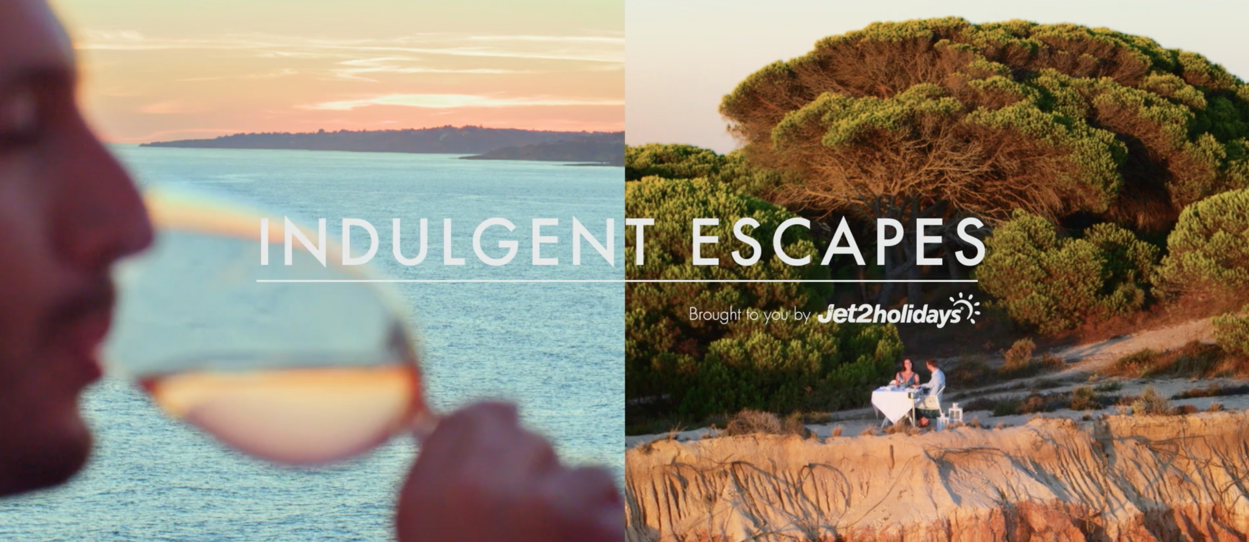 Still from our Jet2 Indulgent Escapes TV campaign