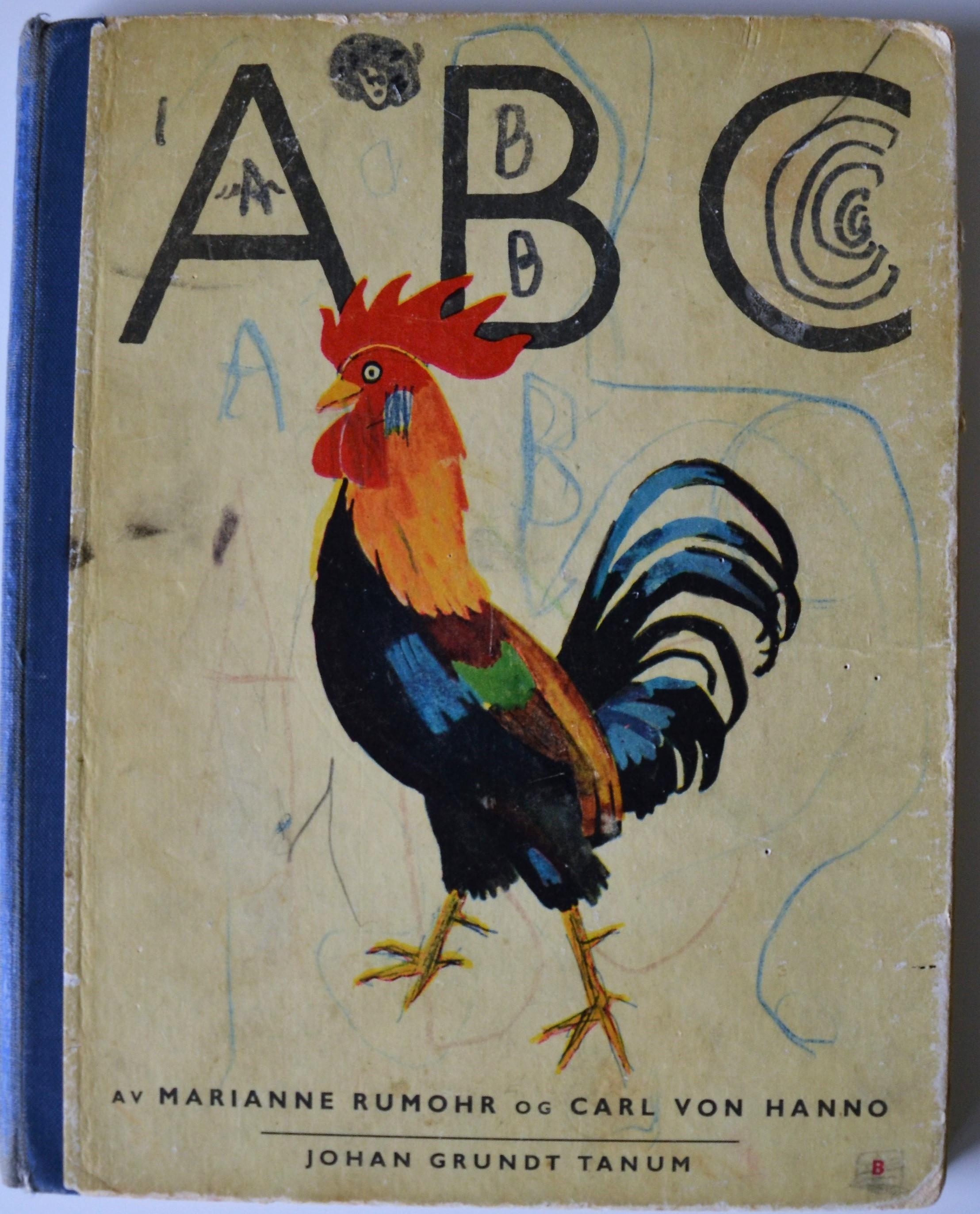 - Vi har fått låne en gammel ABC-bok som sikkert mange kjenner igjen. Vi har avfotografert omslaget, og eieren har fått boka tilbake. Bildet over viser annet lesestoff som barn var opptatt med. Et Donald Duck-blad fra 11. februar 1959.