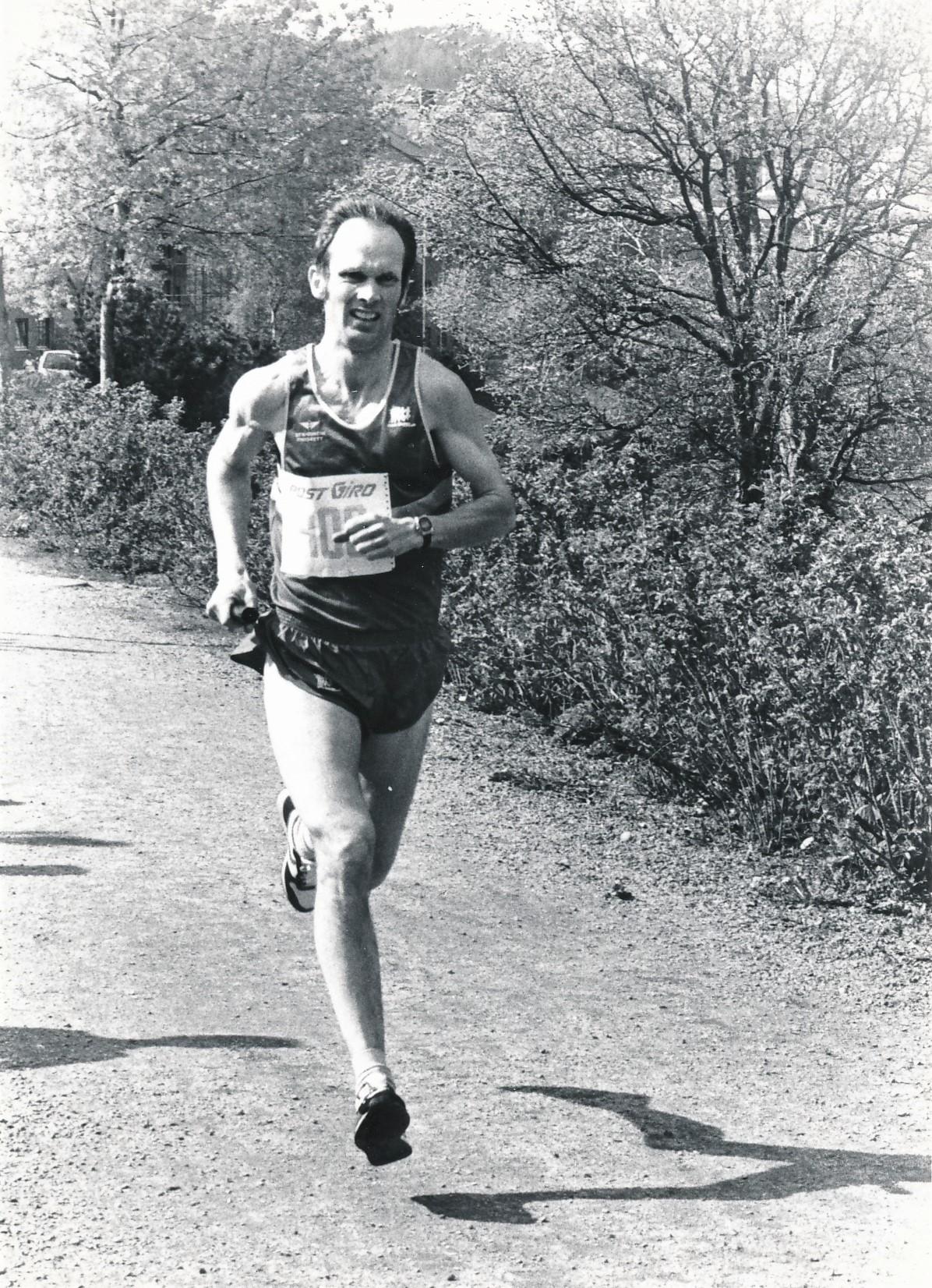 Knut Tore Børø, fra et løp i 1989.
