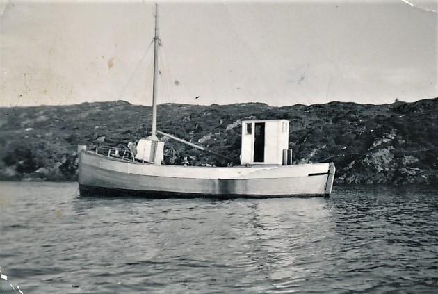«Stjernen», en av de aller første båtene til Trygve. Den betalte han 250 kroner for hos Havnevesenet i Trondheim