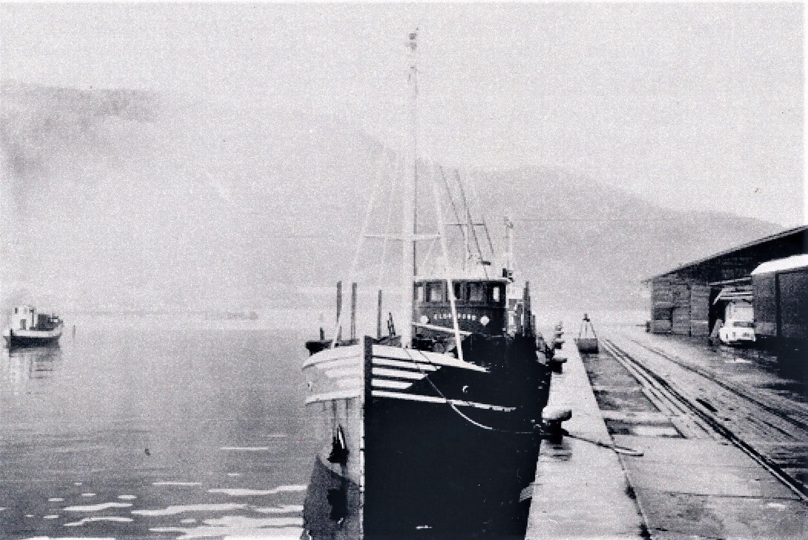 «Eldøysund» var båten Trygve hadde lengst og som avsluttet hans fraktefart-periode. Med den fraktet han mye kraftfôr fra Stormøllen i Trondheim.
