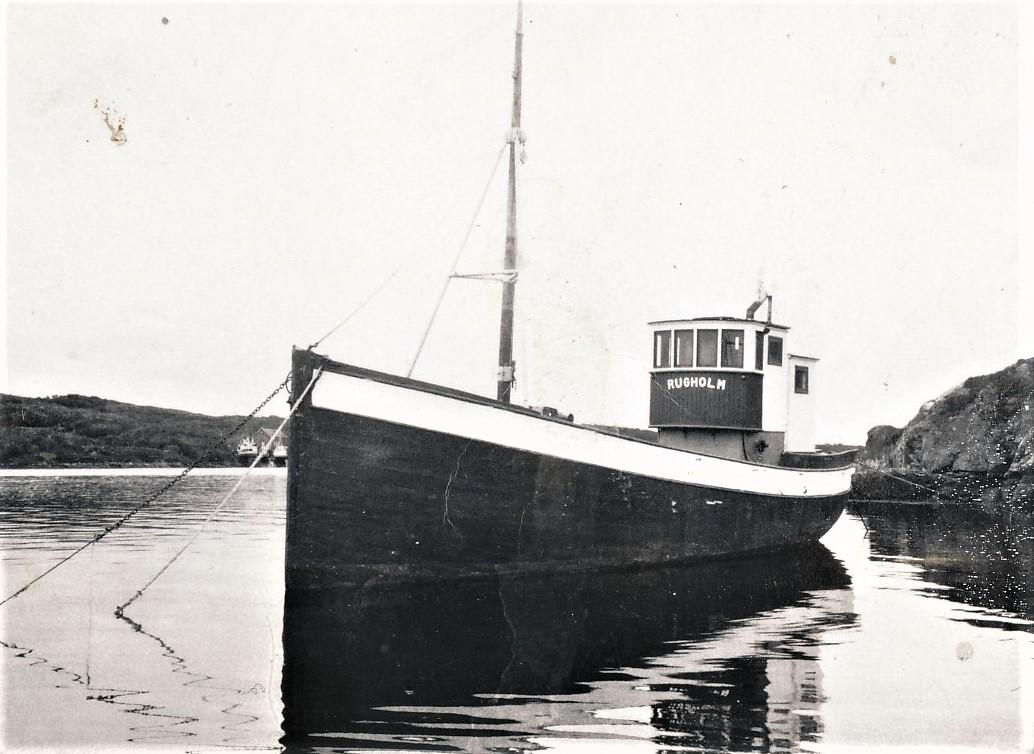 MS «Rugholm», båten som Trygve virkelig startet fraktefarten med på 1950-tallet.