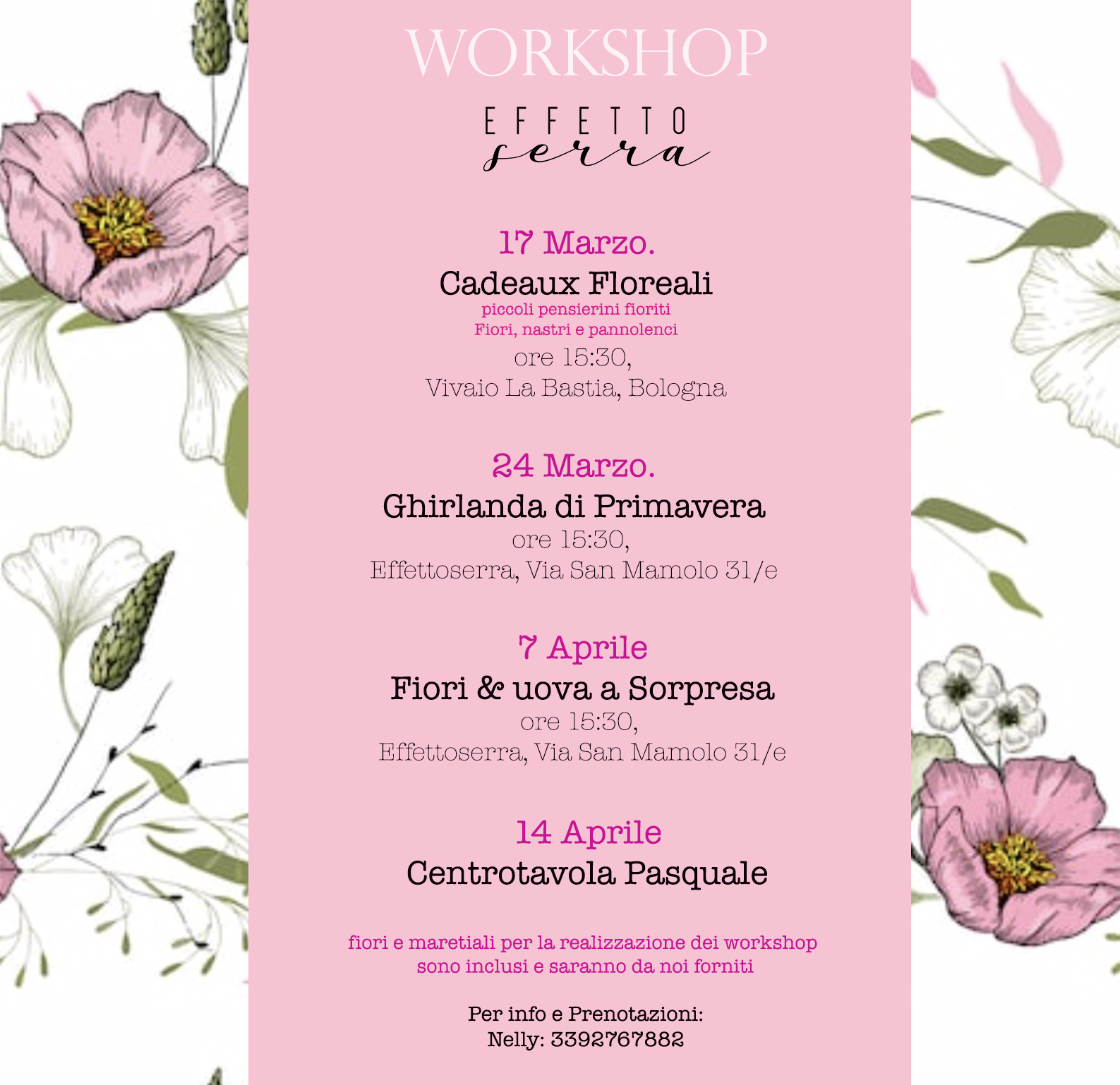 Workshop floreali Bologna