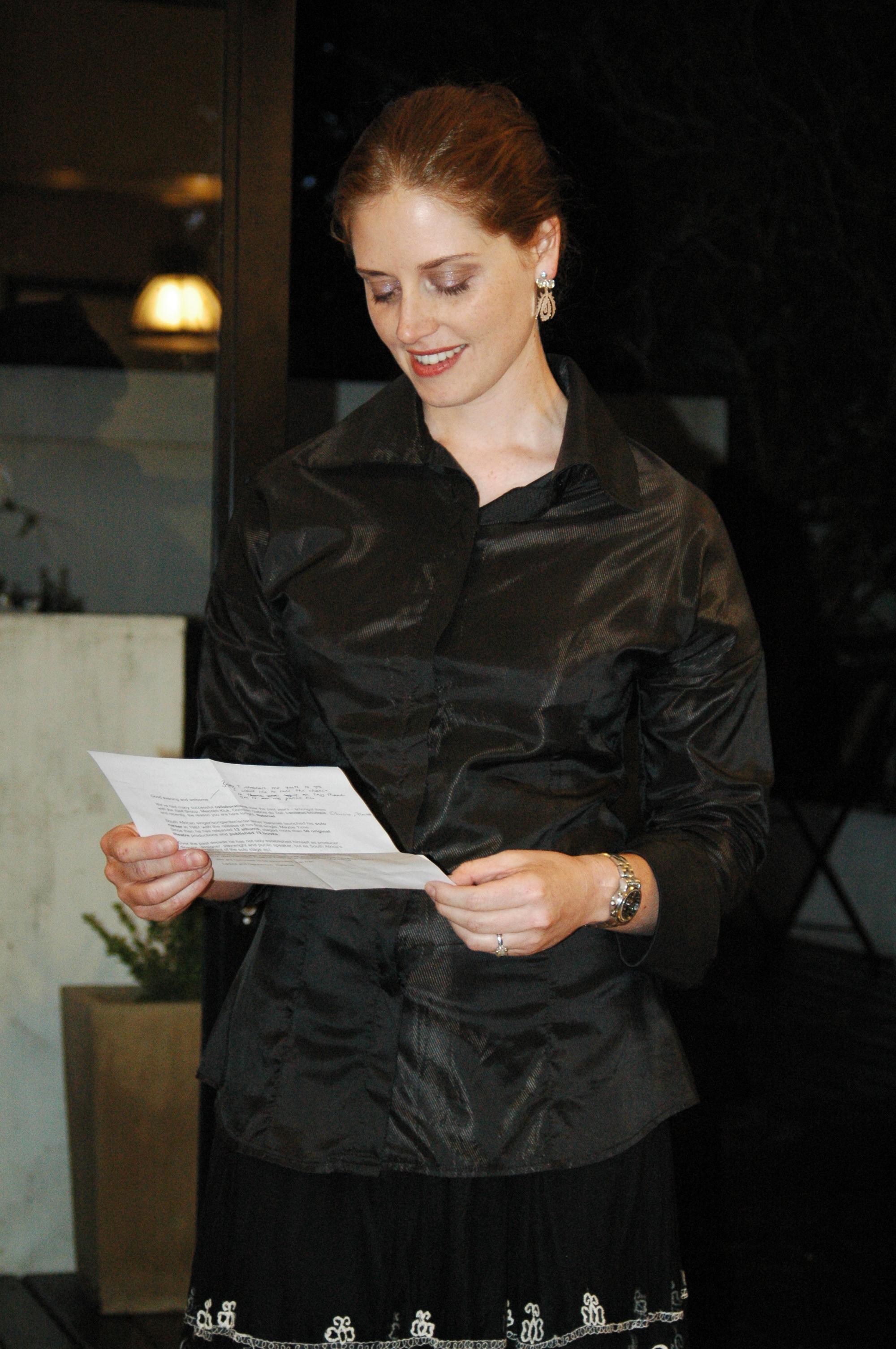 LAUNCH OF THE NATANIEL RANGE AT BOEZAART BAUERMEISTER DEC 2006