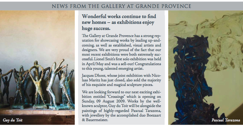 'CROSSINGS' GROUP EXHIBITION GRANDE PROVENCE ESTATE AUG 2009