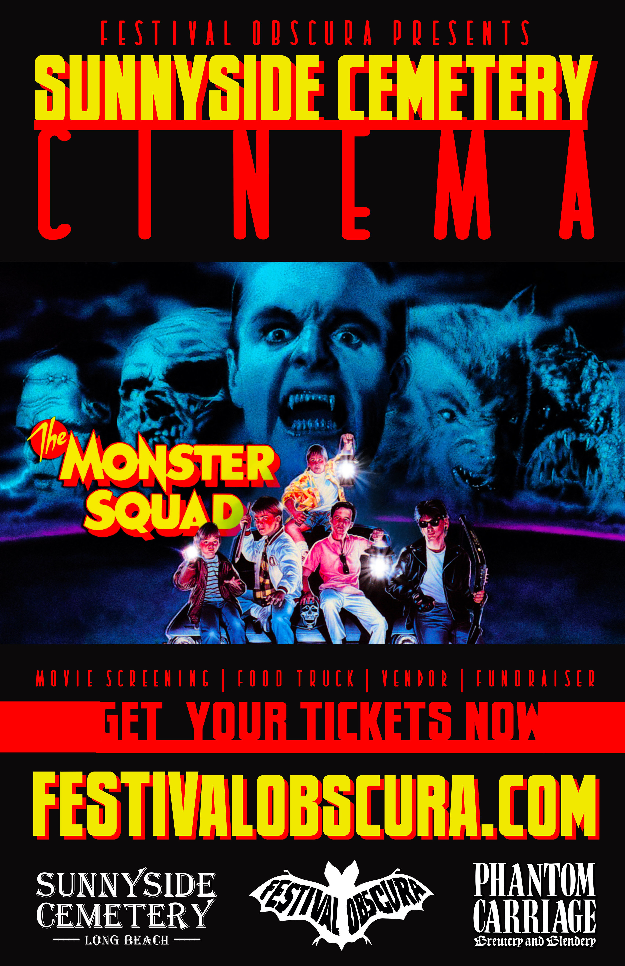 "SUNNYSIDE CEMETERY CINEMA: ""THE MONSTER SQUAD"" - Saturday, August 18th, 2018"