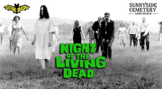 "SUNNYSIDE CEMETERY CINEMA: ""NIGHT OF THE LIVING DEAD"" 50TH ANNIVERSARY SCREENING - Saturday, October 6th, 2018"