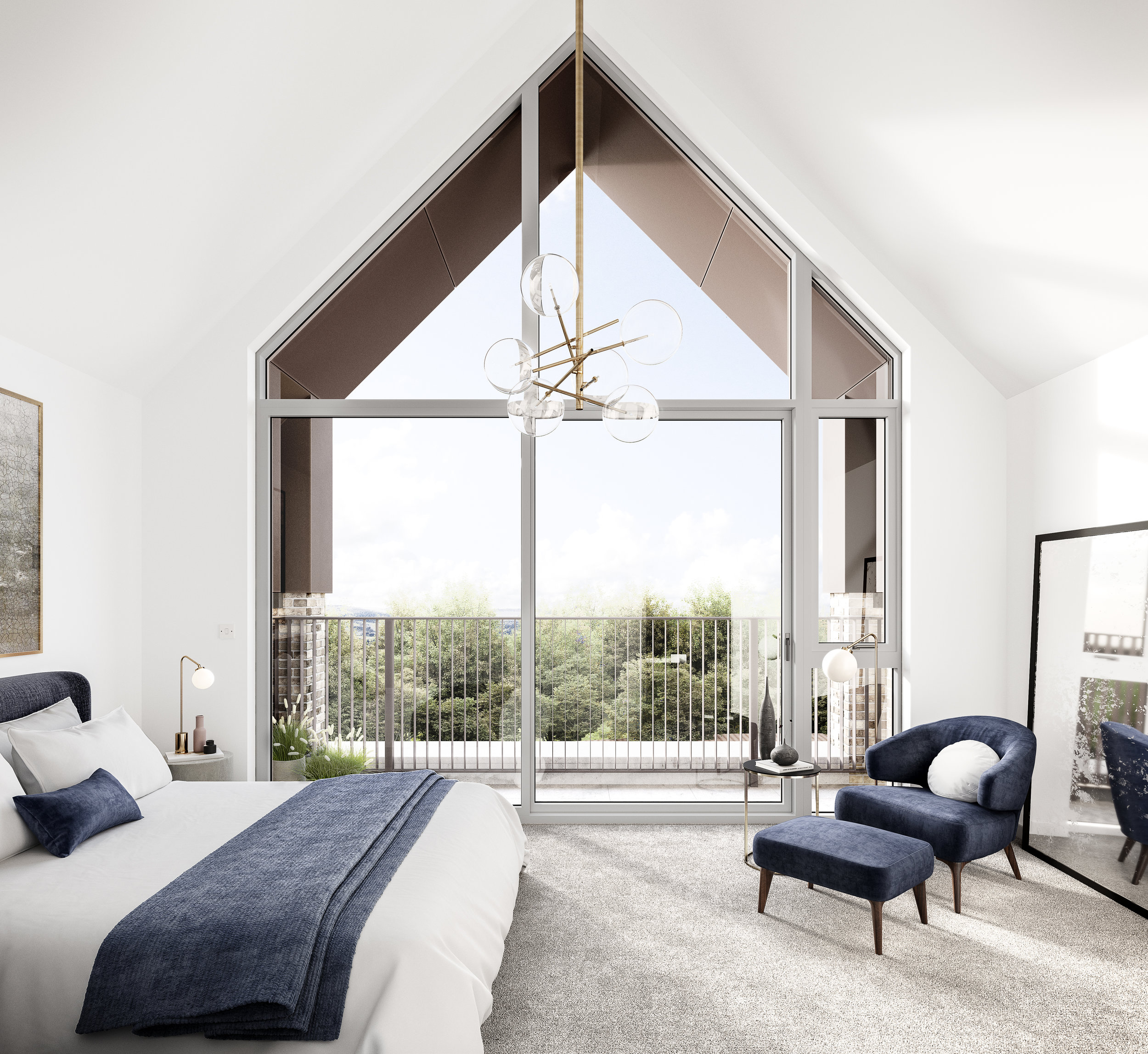Wells Park Place Crest Nicholson bedroom CGI
