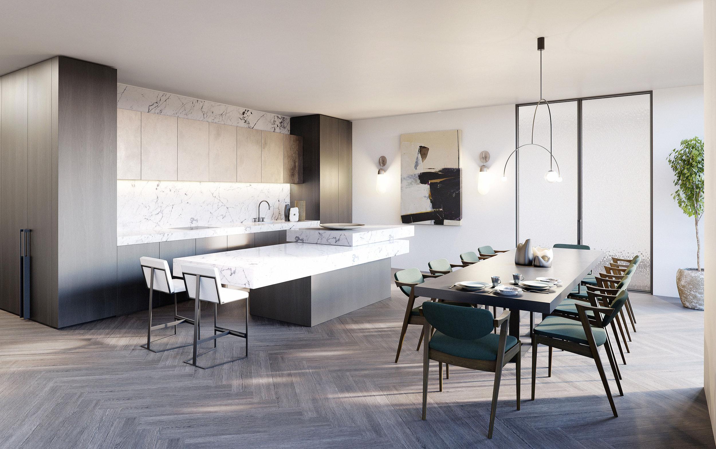 60 st johns wood kitchen CGI