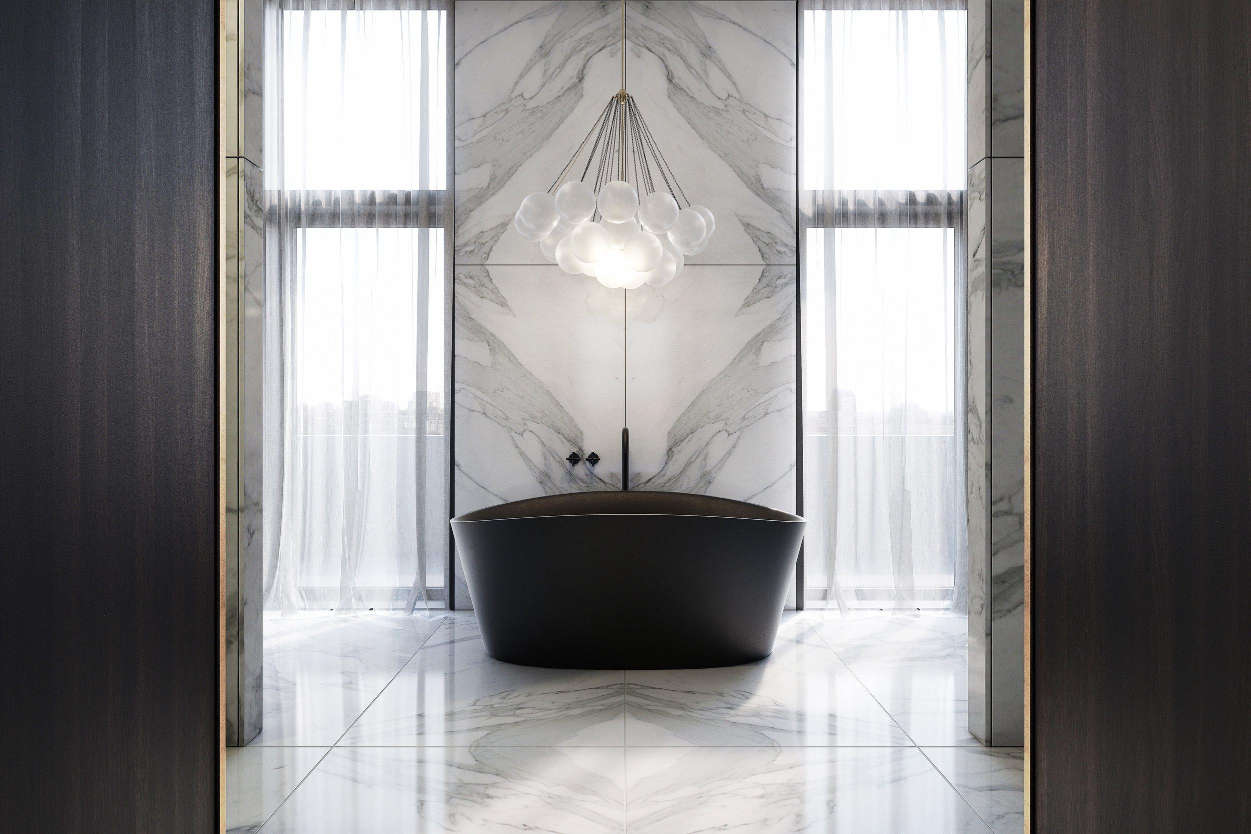 60 St Johns Wood penthouse bathroom CGI