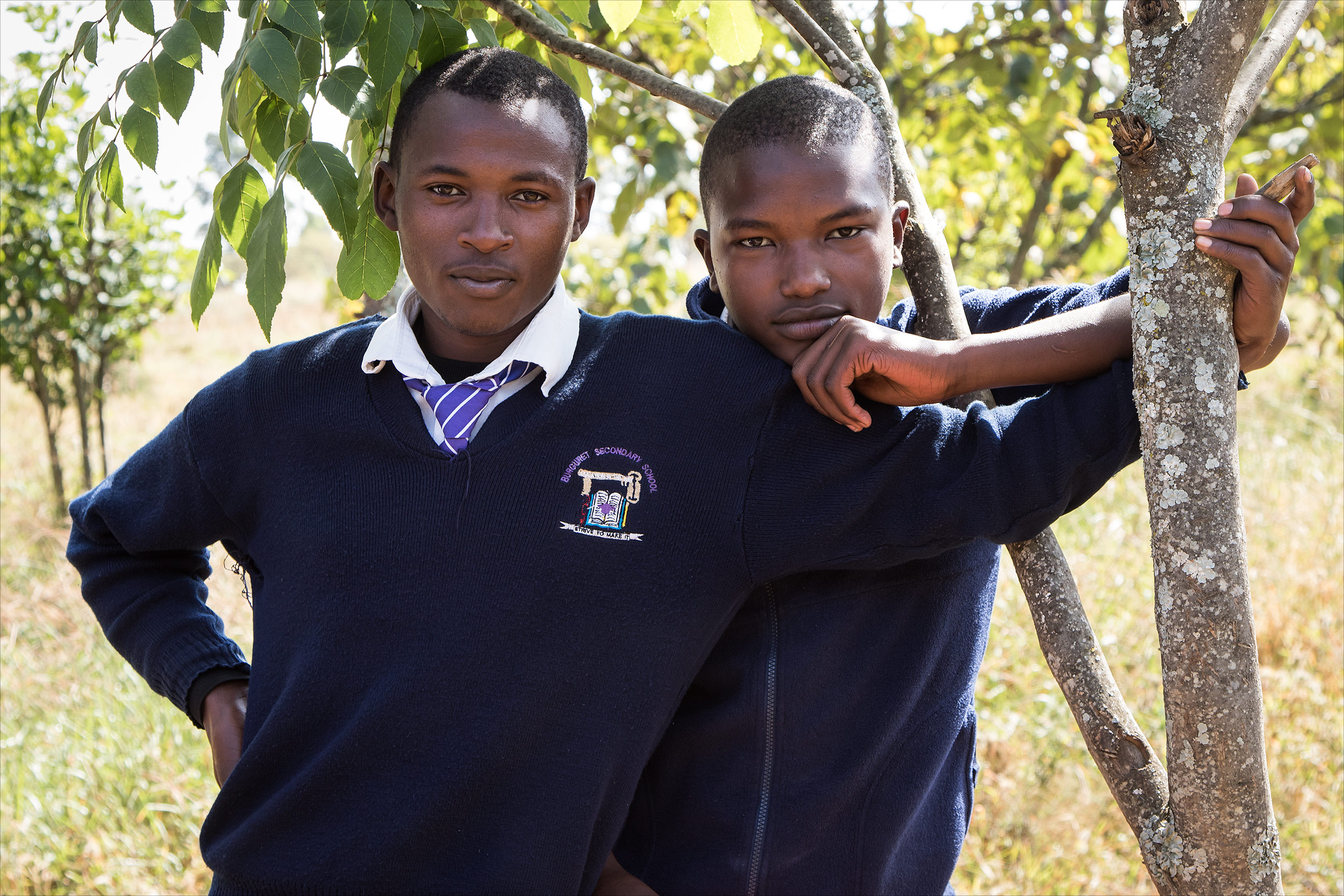Secondary school students, Kenya