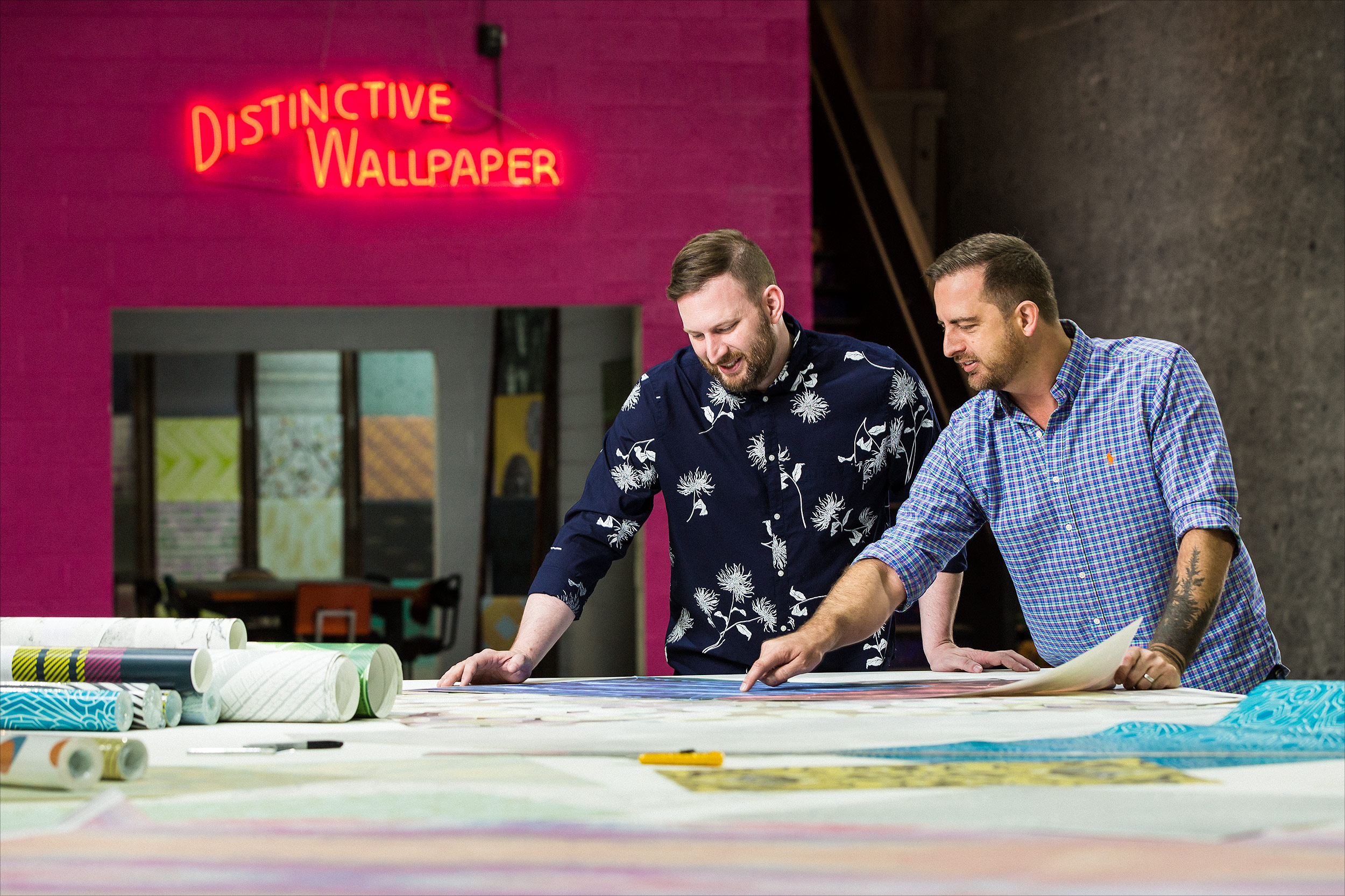 Josh Young and Andi Kubacki, co-founders of Detroit Wallpaper