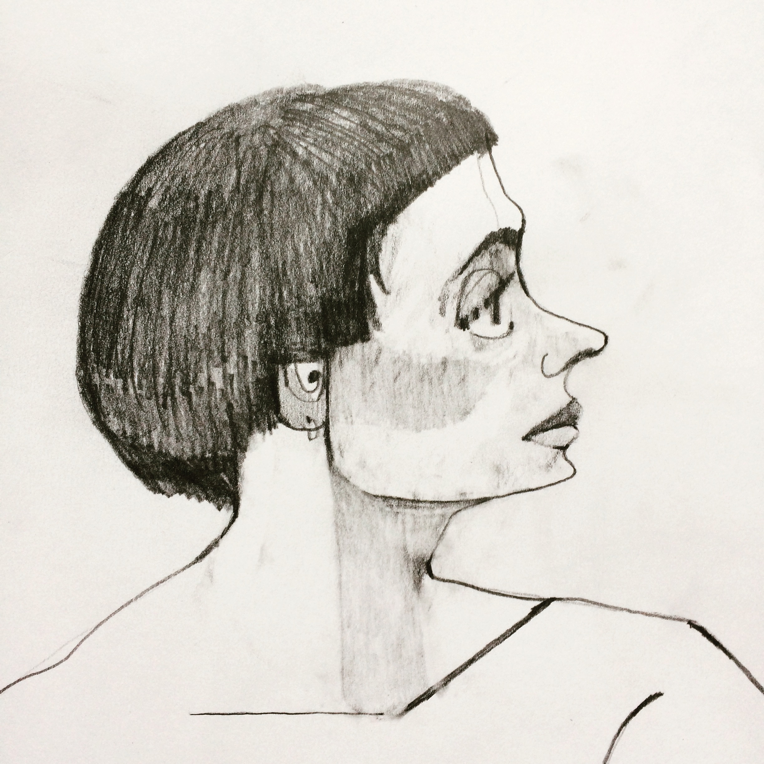 20 minute drawing - pencil on paper