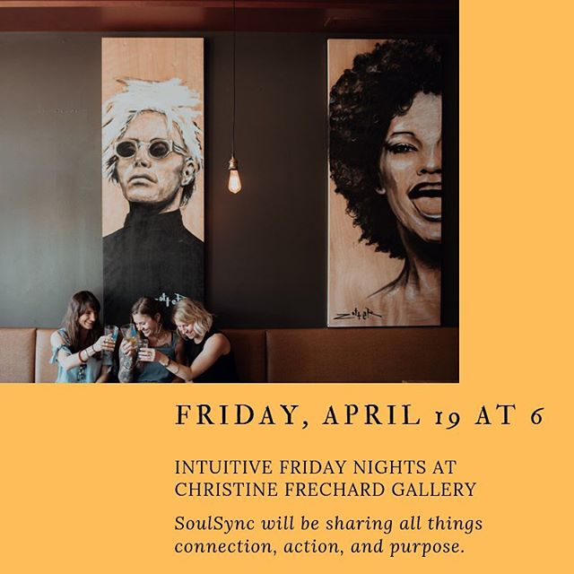 Next Friday, @megansicheri @jannacabana @ms_sage will be speaking at @christinefrechardgallery in Lawrenceville beginning at 6 pm. We will be discussing ways to connect with how you want to feel every day so that you can use that as a guide to fulfill your purpose and take action to create a life you love. Christine Frechard and Alyssa Sineni will also be offering tarot and energy work for the evening. There is a $10 suggested donation for the gallery. Please join us for this lovely event in this beautiful space.