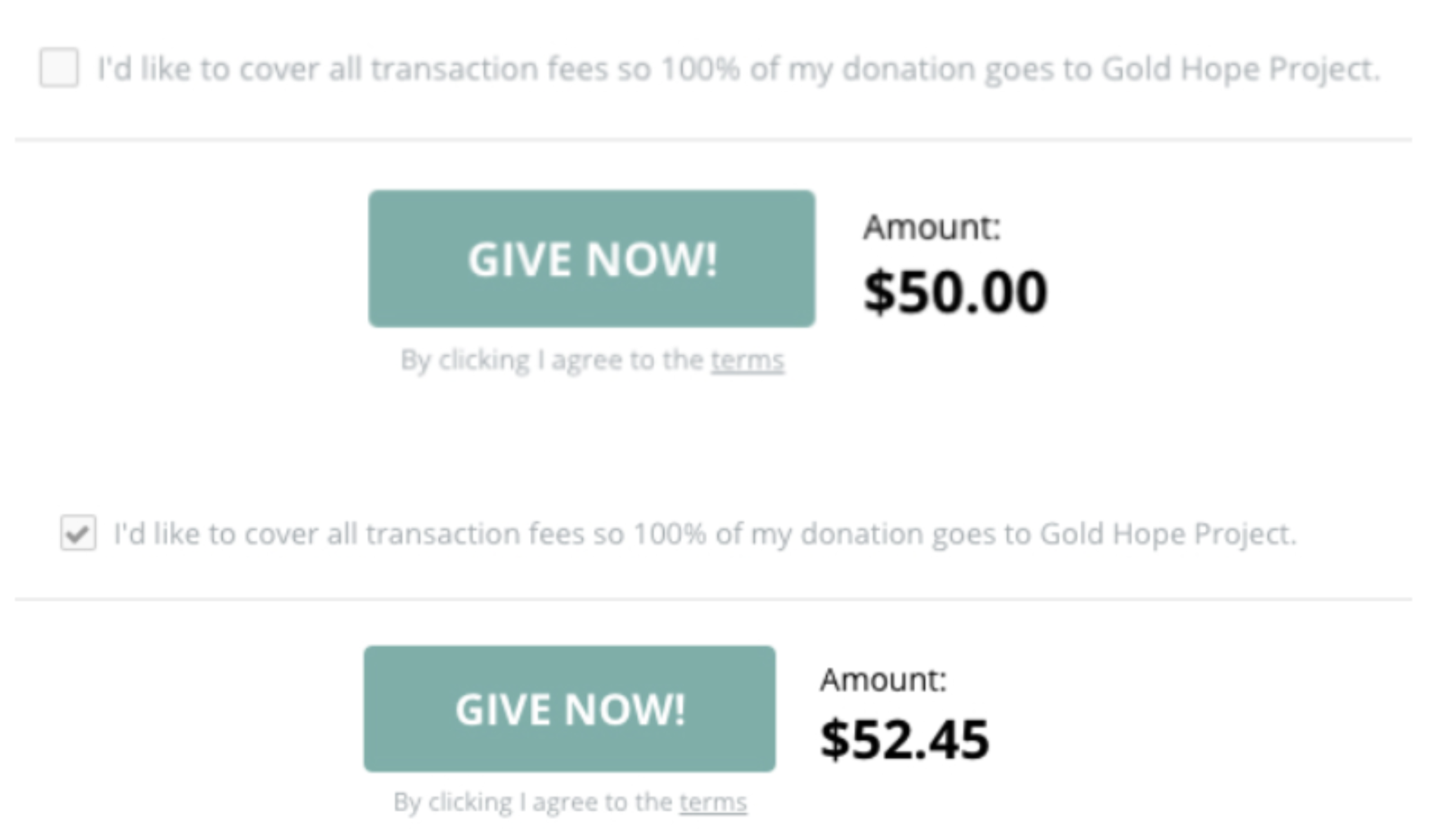 Improve online donation rate by including small words on your donation page
