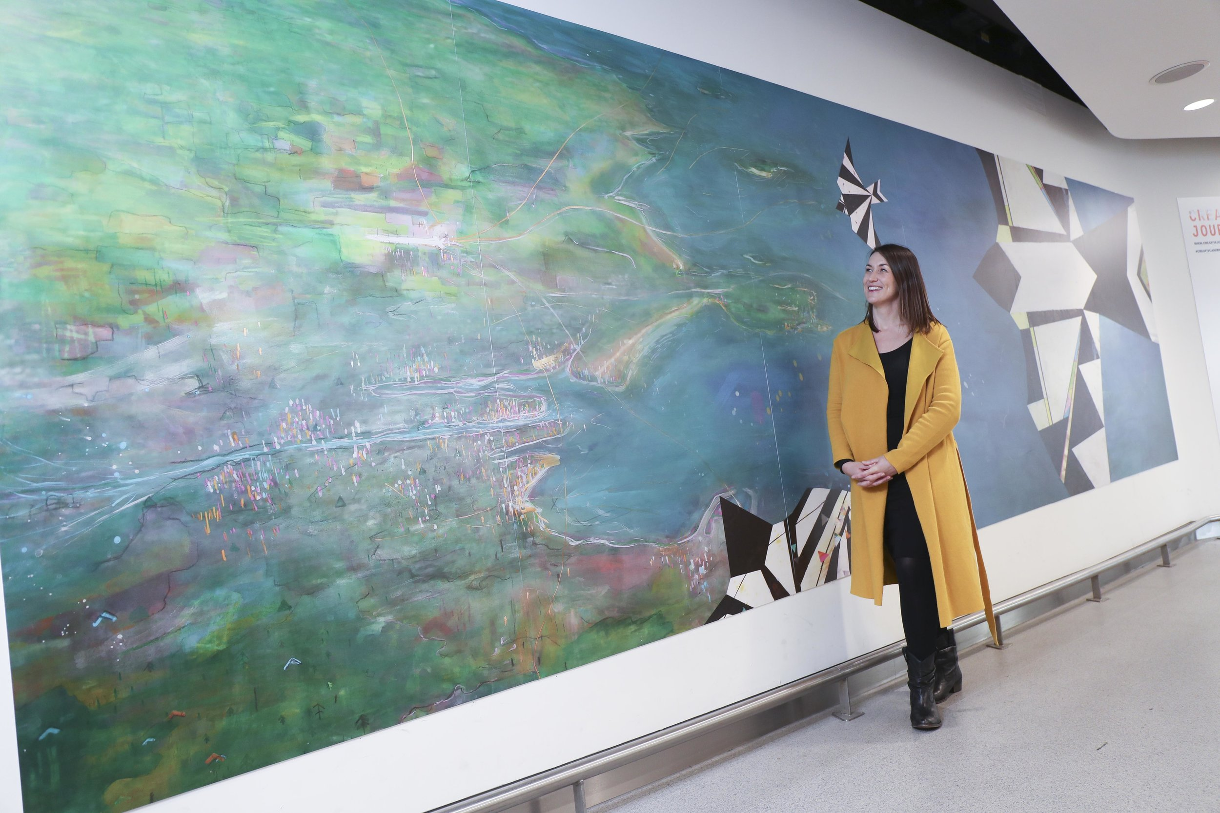 Artist Deidre Bryne reviews the installation of her work at Dublin Airport.