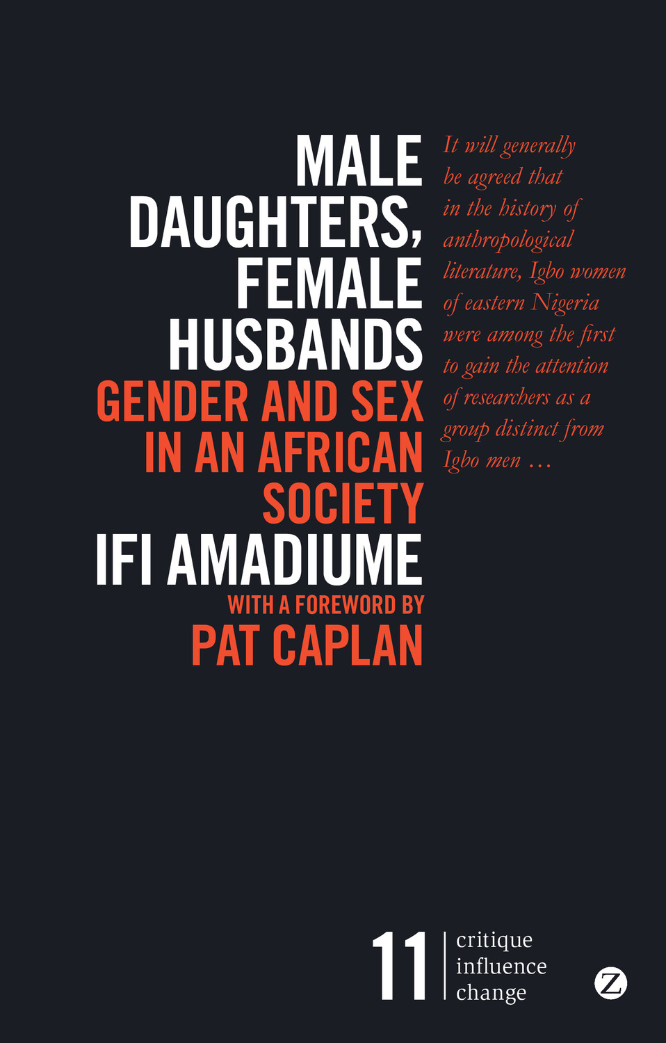 Male Daughters. Female Husbands by Ifi Amadiume