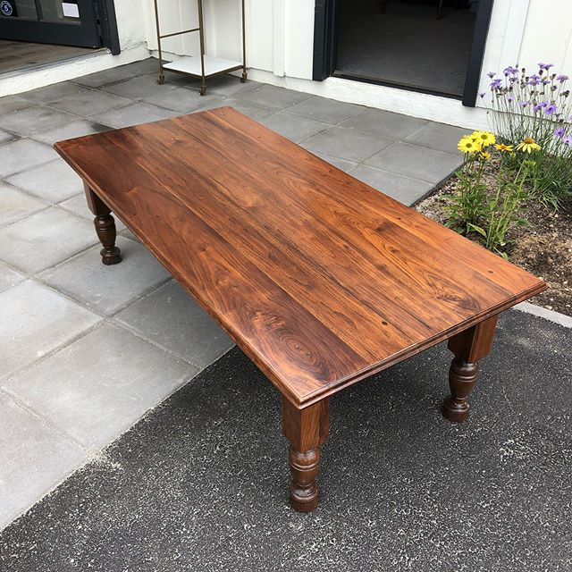 Love how this walnut coffee table came out. Beautiful, rich, natural color. #encinitasworkshop