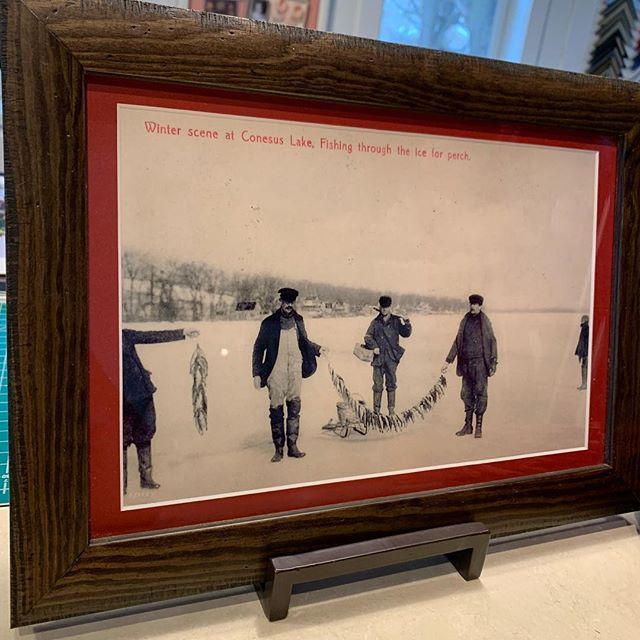 We have lots of framed Conesus Lake photos, postcard and directory cover reproductions in the shop.  The perfect gift for lovers of the lake!  Also, we are still taking custom frame orders for Christmas, so hurry in!  #conesuslake #pictureframing #custompictureframing #framing #geneseo #geneseony #littlelakesframing
