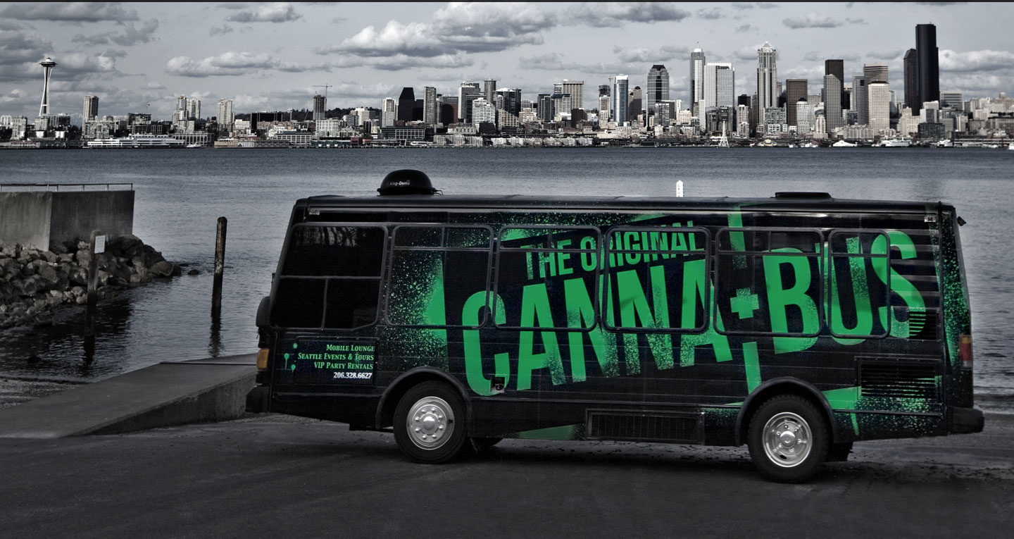 Please note: while the above  is  a picture of a cannabus, it is  not  the actual cannabus whence the smoke session occurred.