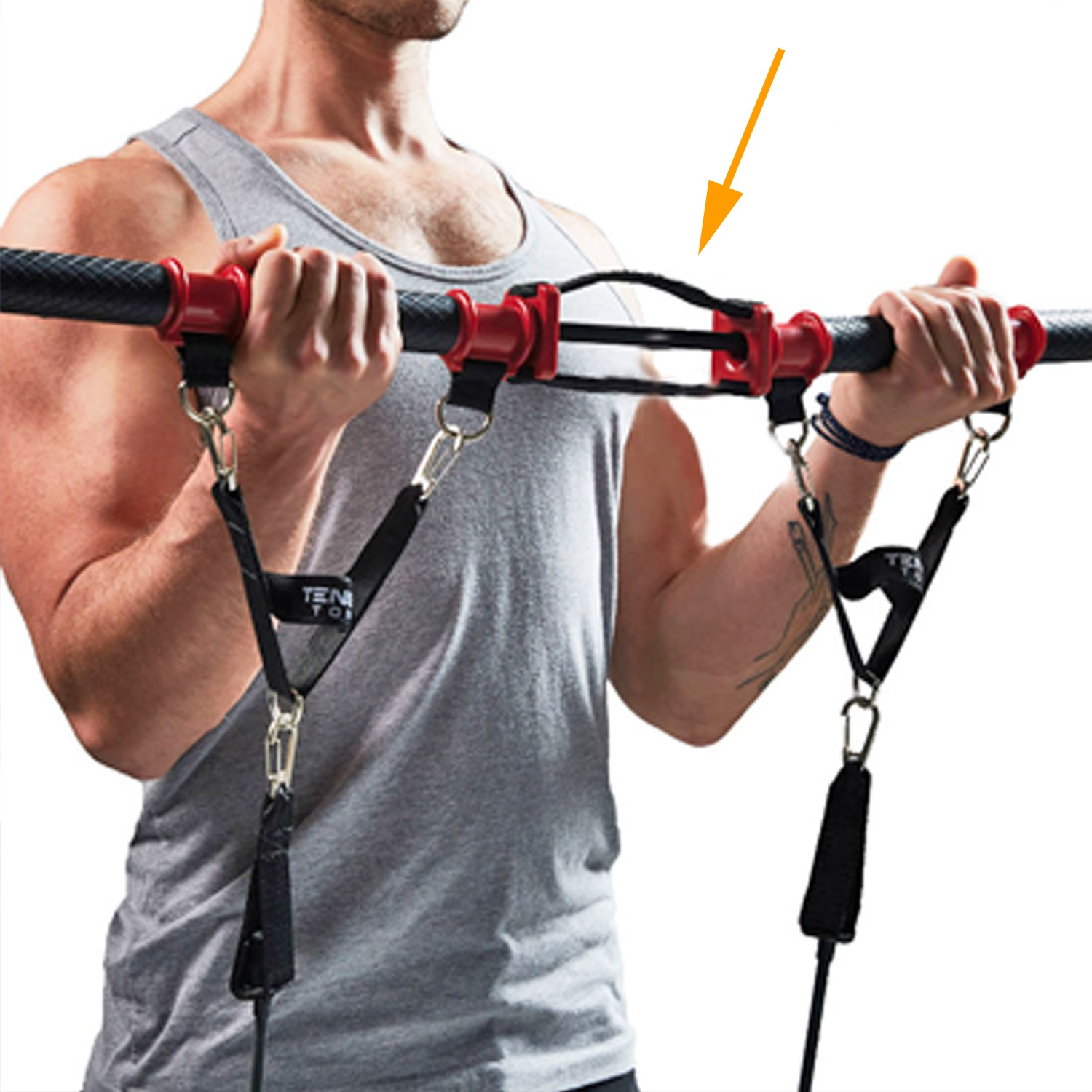 Resistance+band+home+gym+with+entire+exercise+equipment+with+resistance+bands%2C+fitness+workout+bar