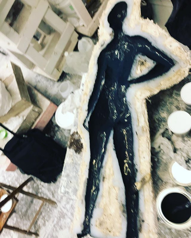 Bonded bronze in process.  #bronzesculpture #contemporarysculpture #contemporaryart #fineart #collector #homedesign #kristinakossi #figurativesculpture #femalesculpture