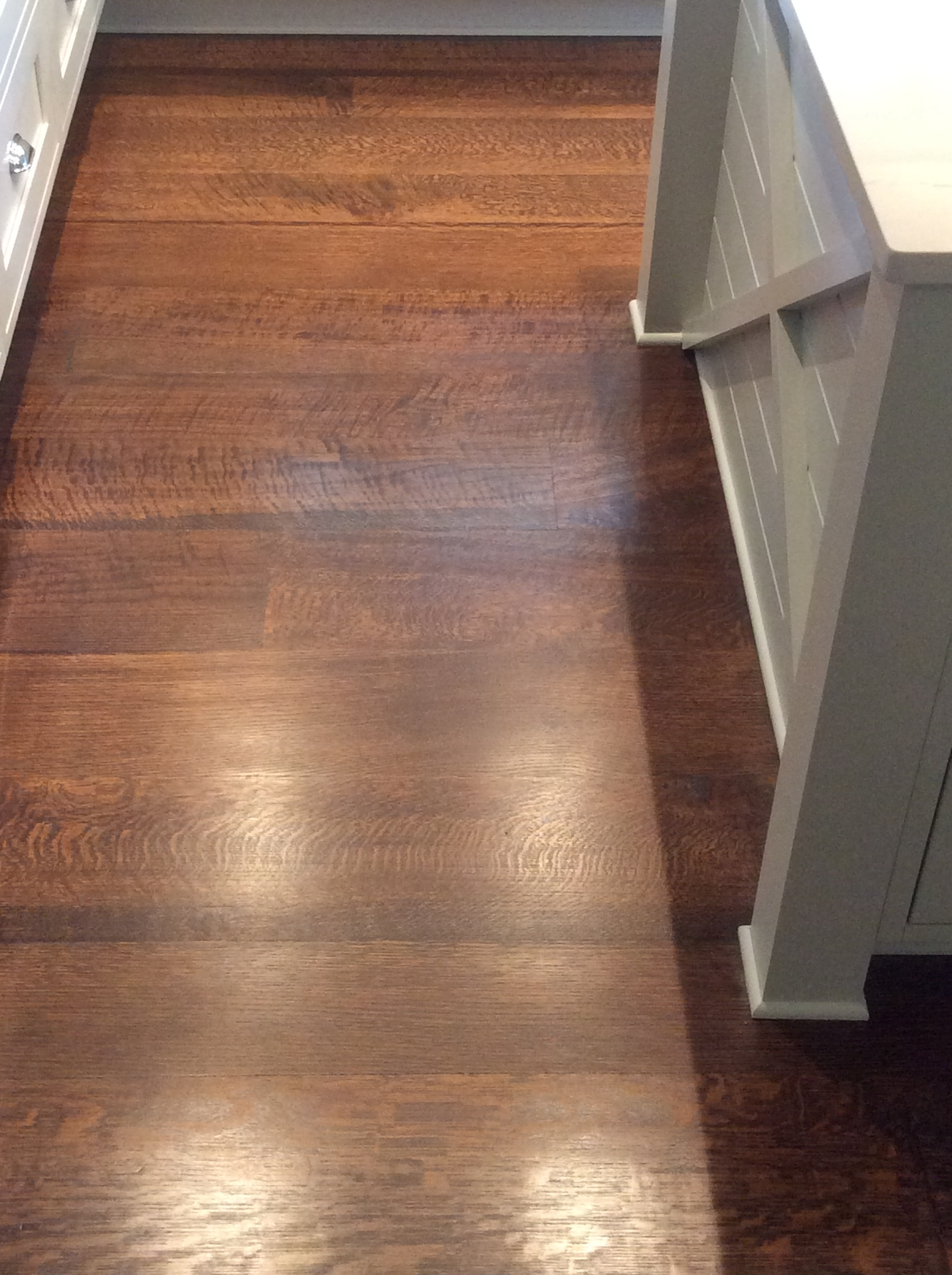 Forest Free rift and quarter sawn white oak flooring and stair treads