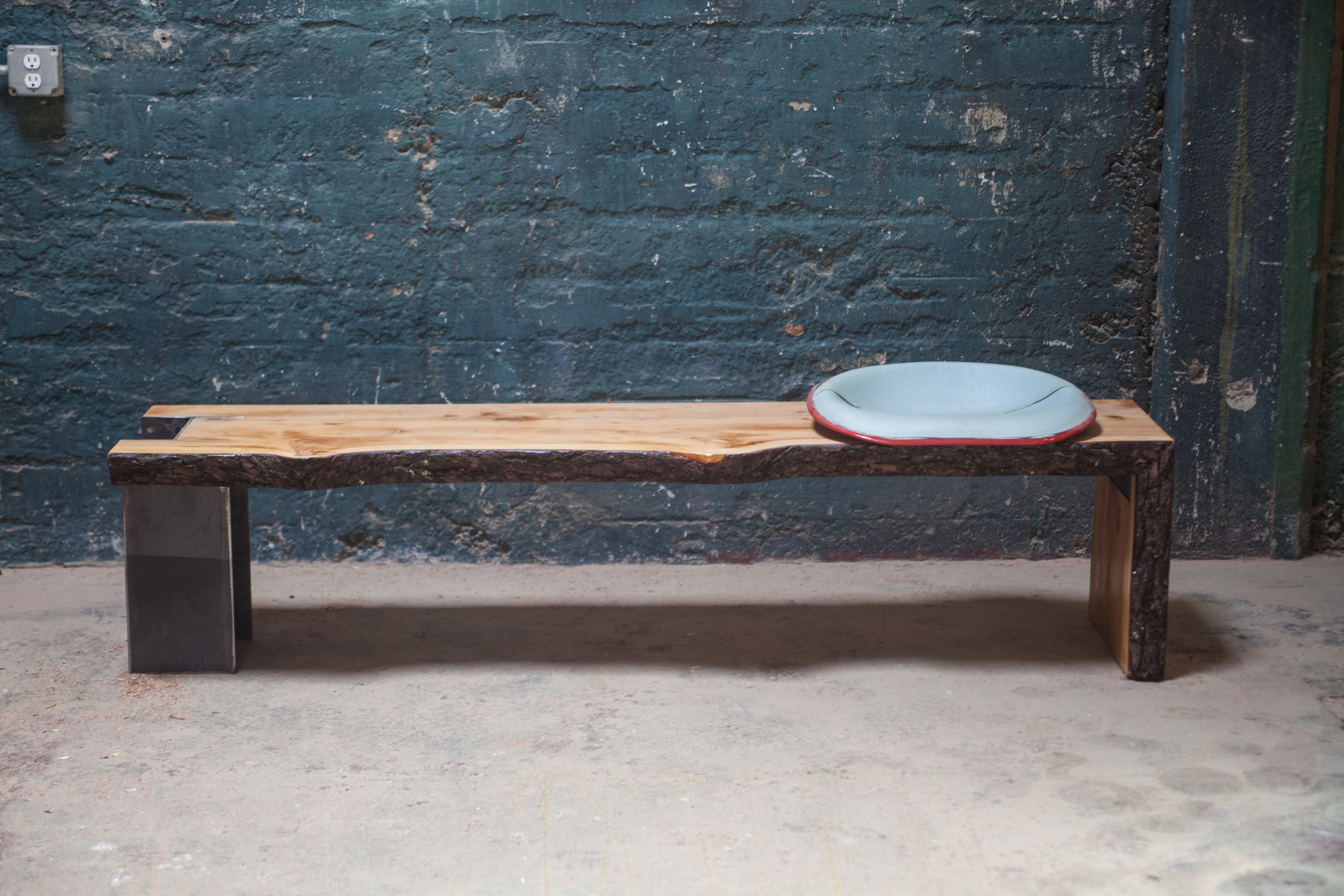 Atlanta based furniture maker and craftsman Jesse Beauchamp, creates this unique bench to complement the homeowner's modern aesthetic.