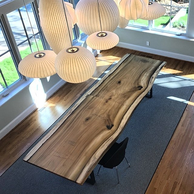Eutree Forrest Free poplar slab fabricated by Rough South Home