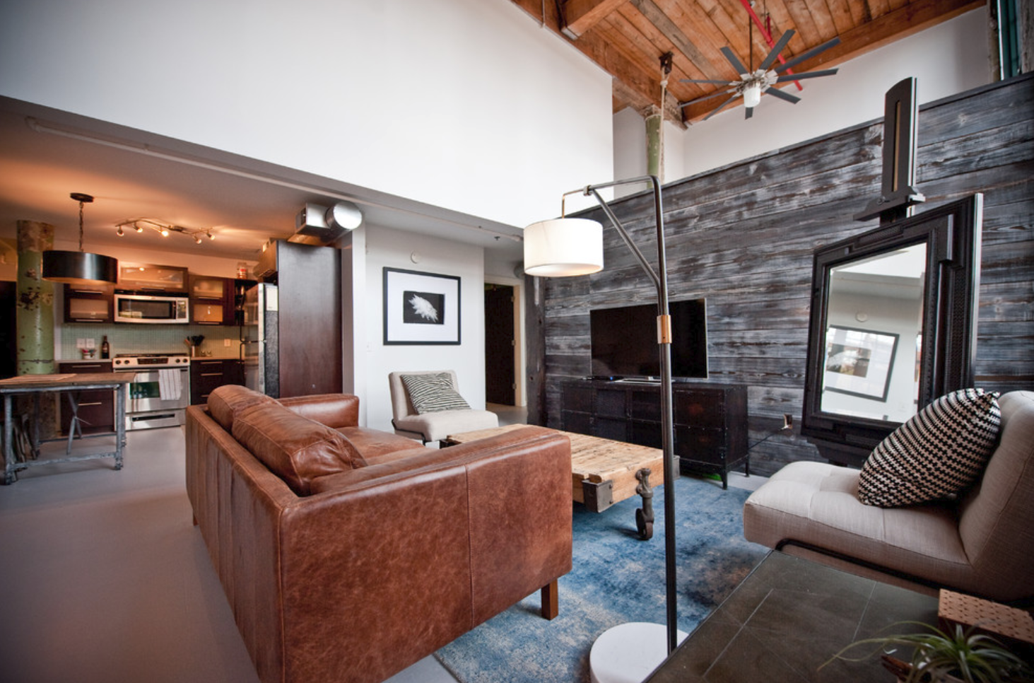 Heirloom Design Build Eutree Shou Sugi Ban Charred Dark Wood Wall Paneling Feature Accent Wall