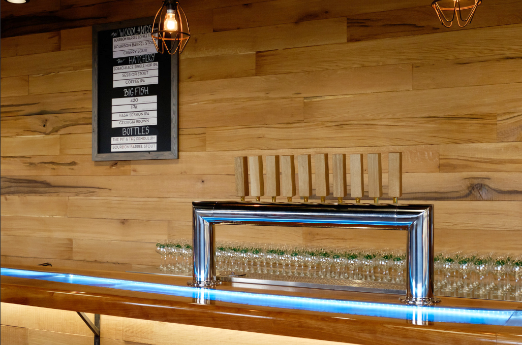 Sweetwater Brewery White Oak Wall Paneling and Bar Slab (2).PNG