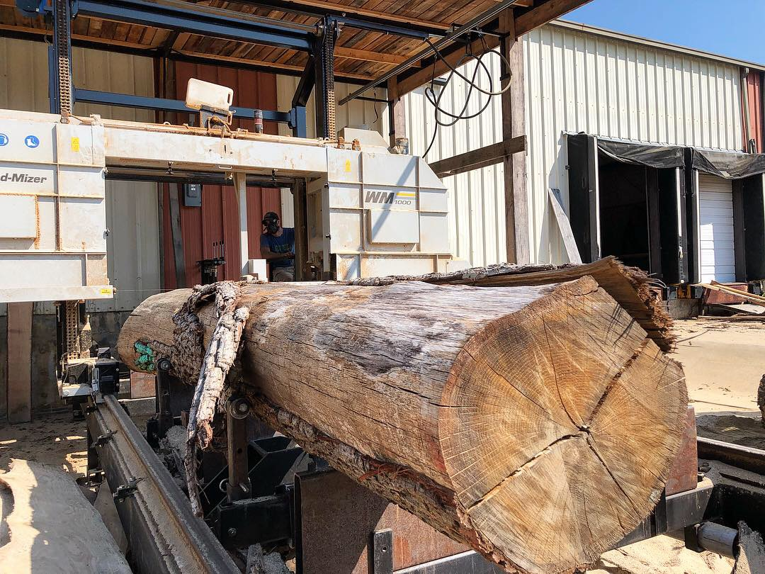 Logs with the greatest width and length are best candidates for slabs that can be used for tables, countertops and benches…