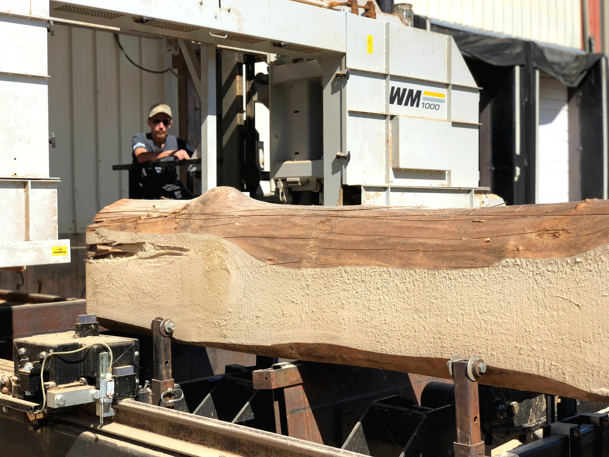 Each log was milled over the course of several weeks.
