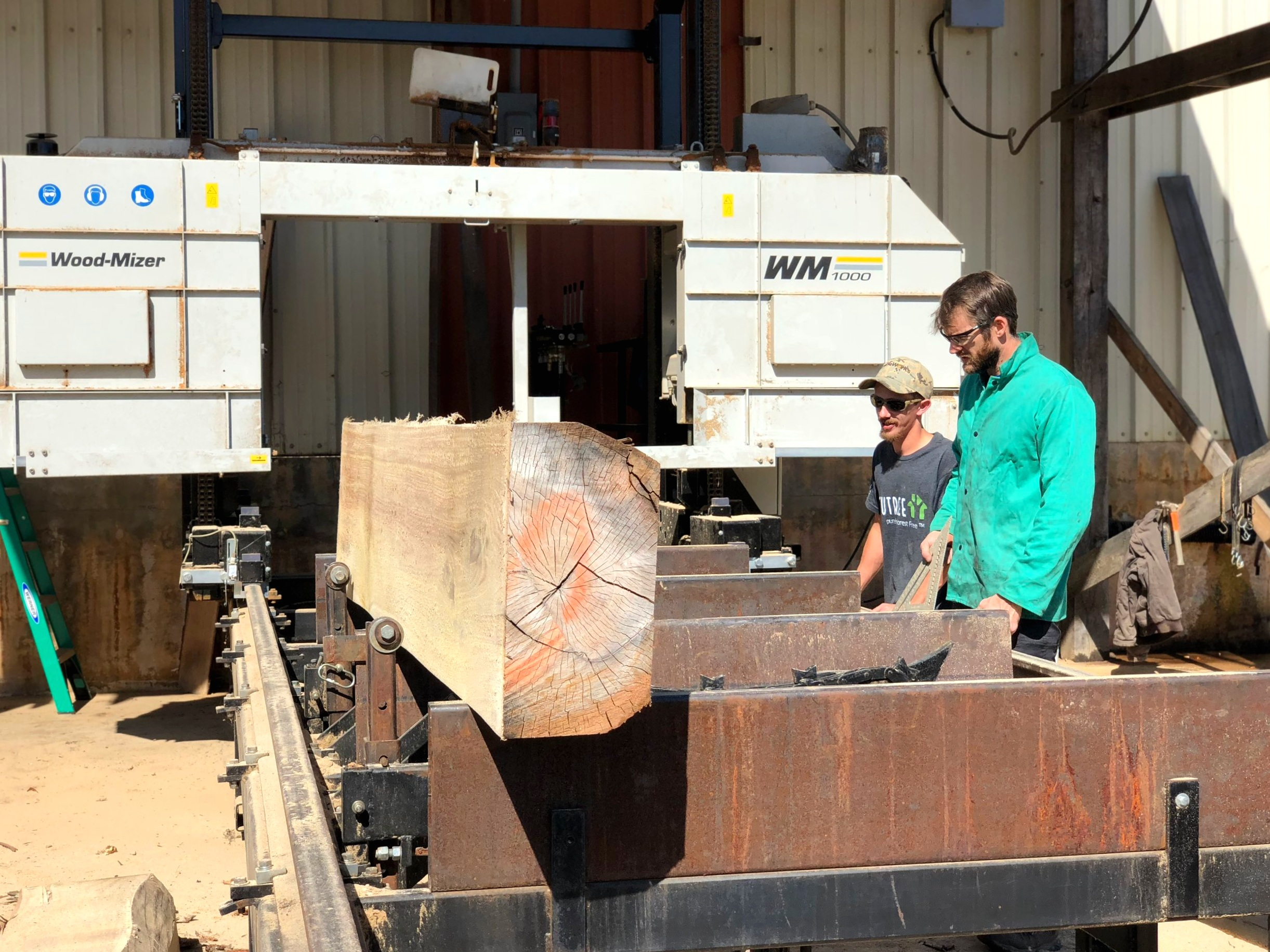 Eutree's sawyers took special care to evaluate and maximize the most material from each log.