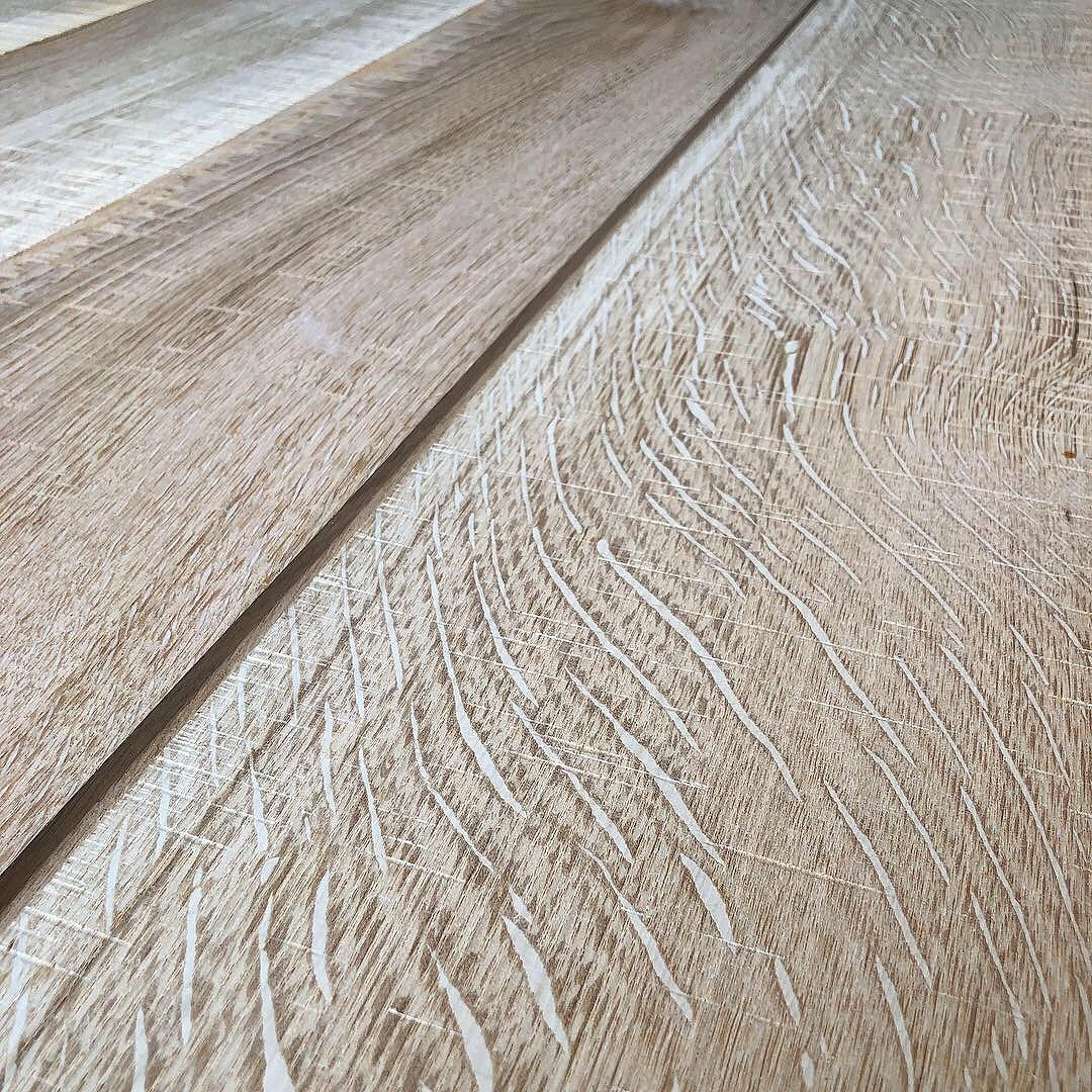 White Oak, Rift and Quarter Sawn with Skip Sawn Texture