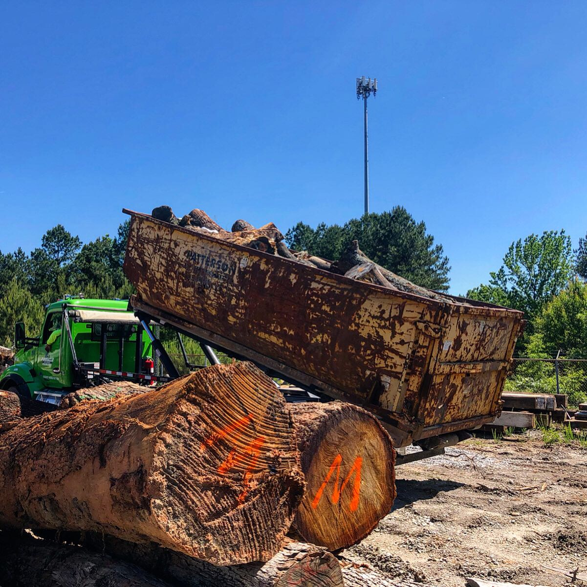 Once logs are unloaded, inventory is rechecked and Eutree's Chief Sawyer outlines a milling plan for each log. Eutree maintains a strict chain of custody to guarantee customers always receive the same lumber from their tees.