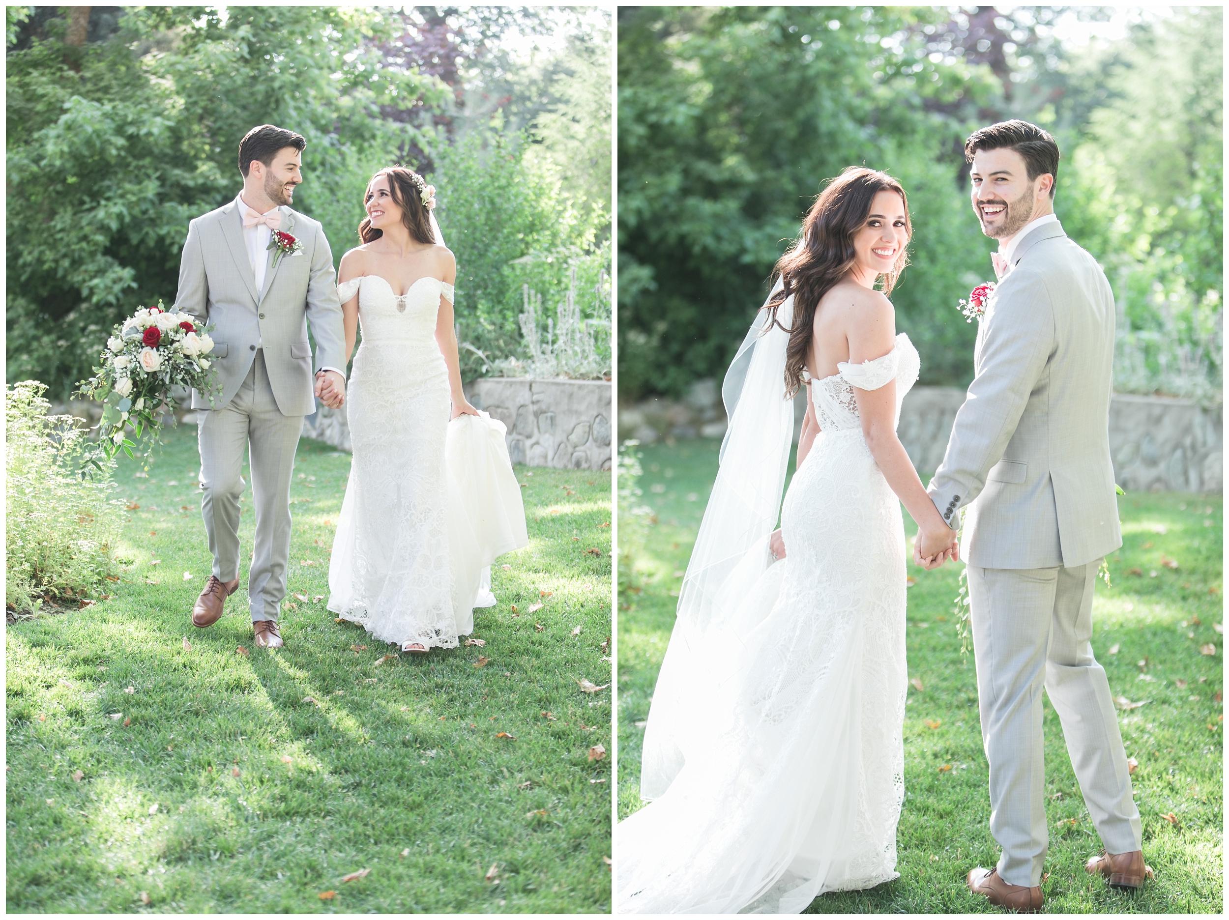 Copy of elegant homestead wilshire ranch wedding bride groom holding hands portrait carrie vines