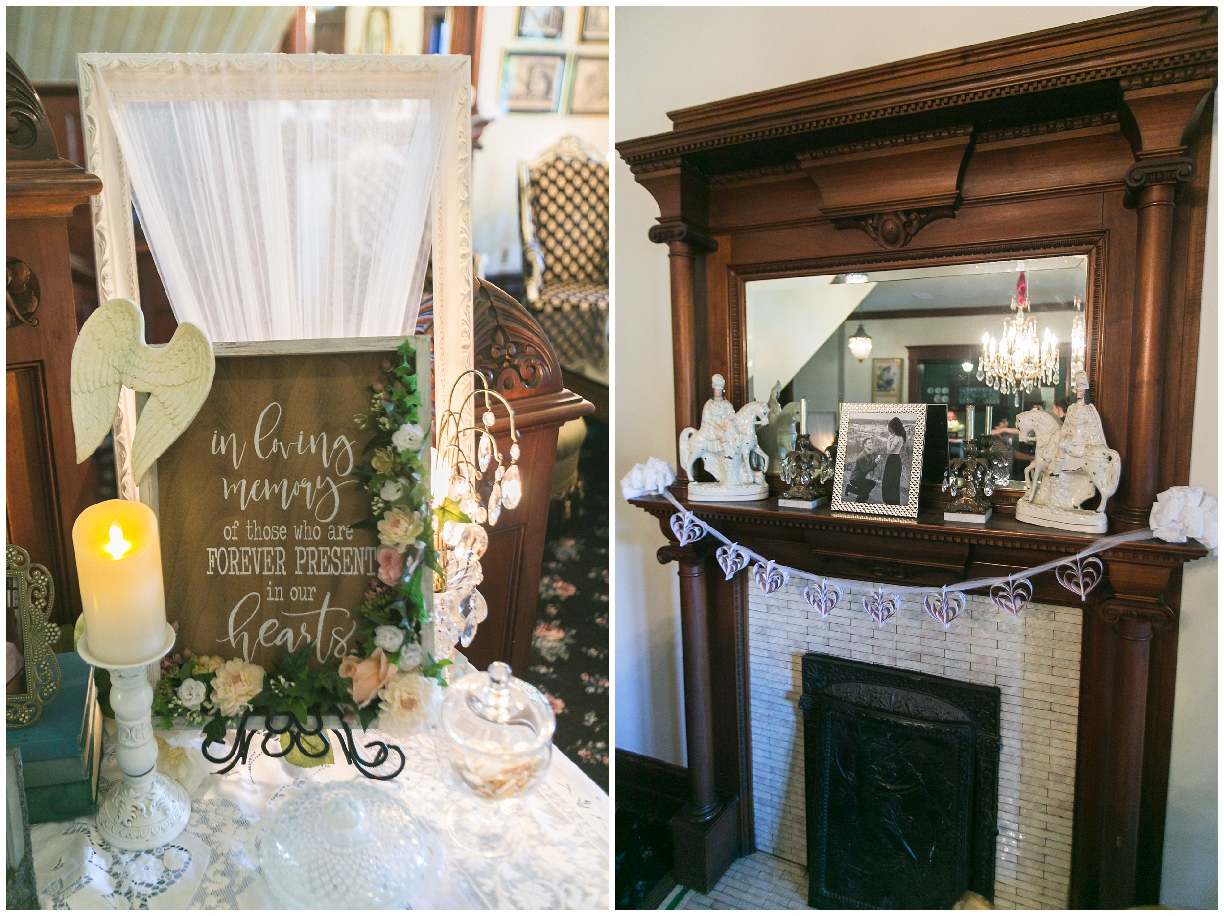 I love how every fireplace had their own unique decor!