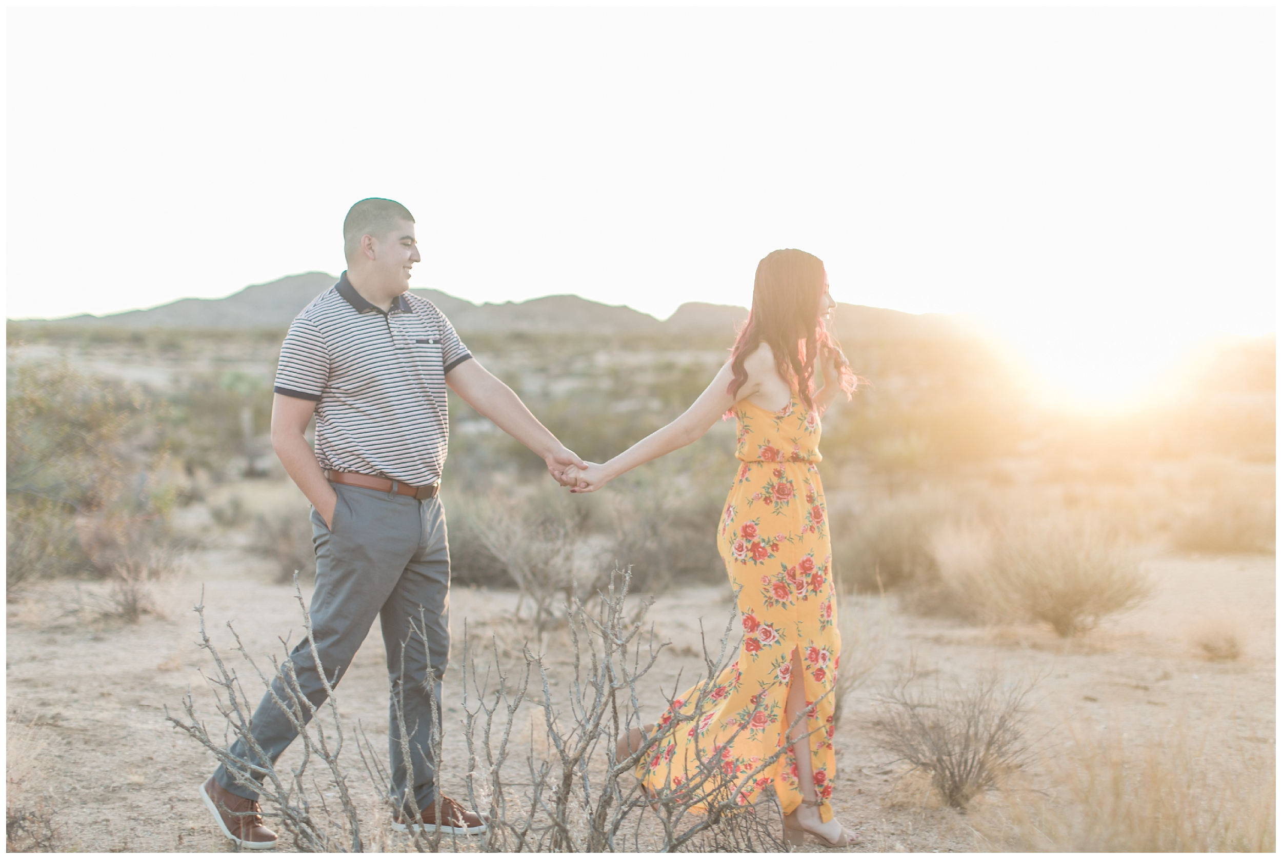 Joshua Tree Engagement Session Inland Empire Wedding Photographer Carrie Vines