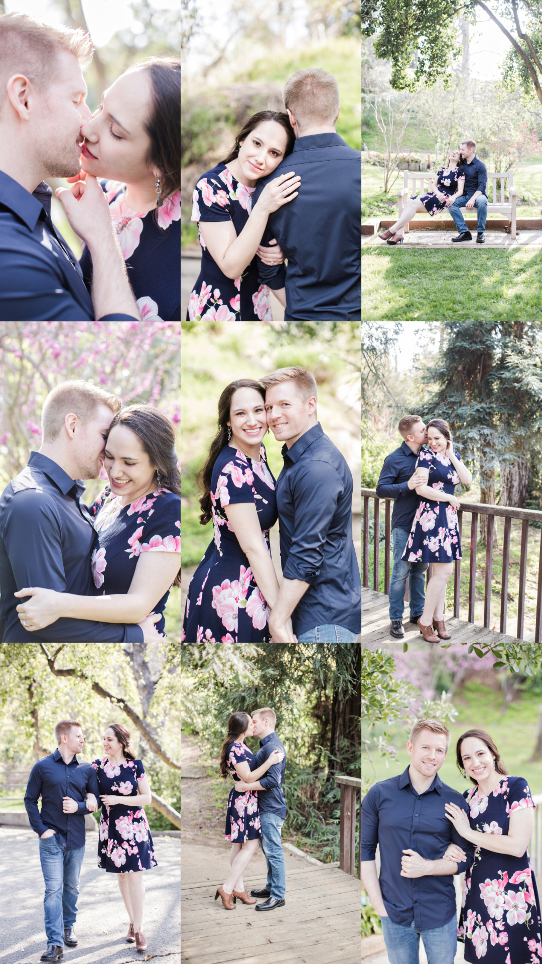 ucr botanic garden engagement session carrie vines photography