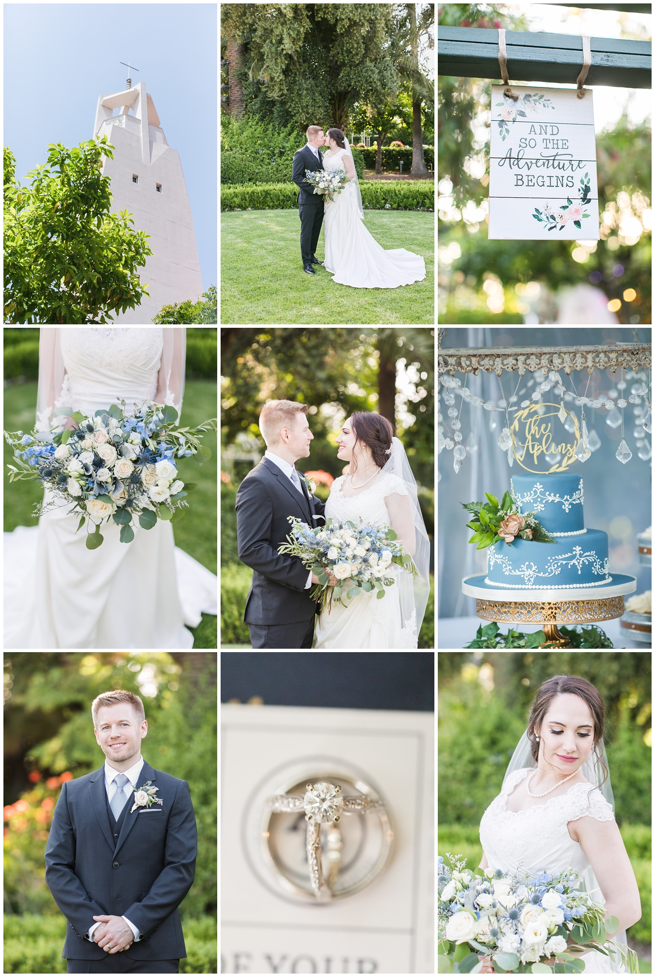 Adventure themed blue blush Christmas House wedding Carrie Vines Photography