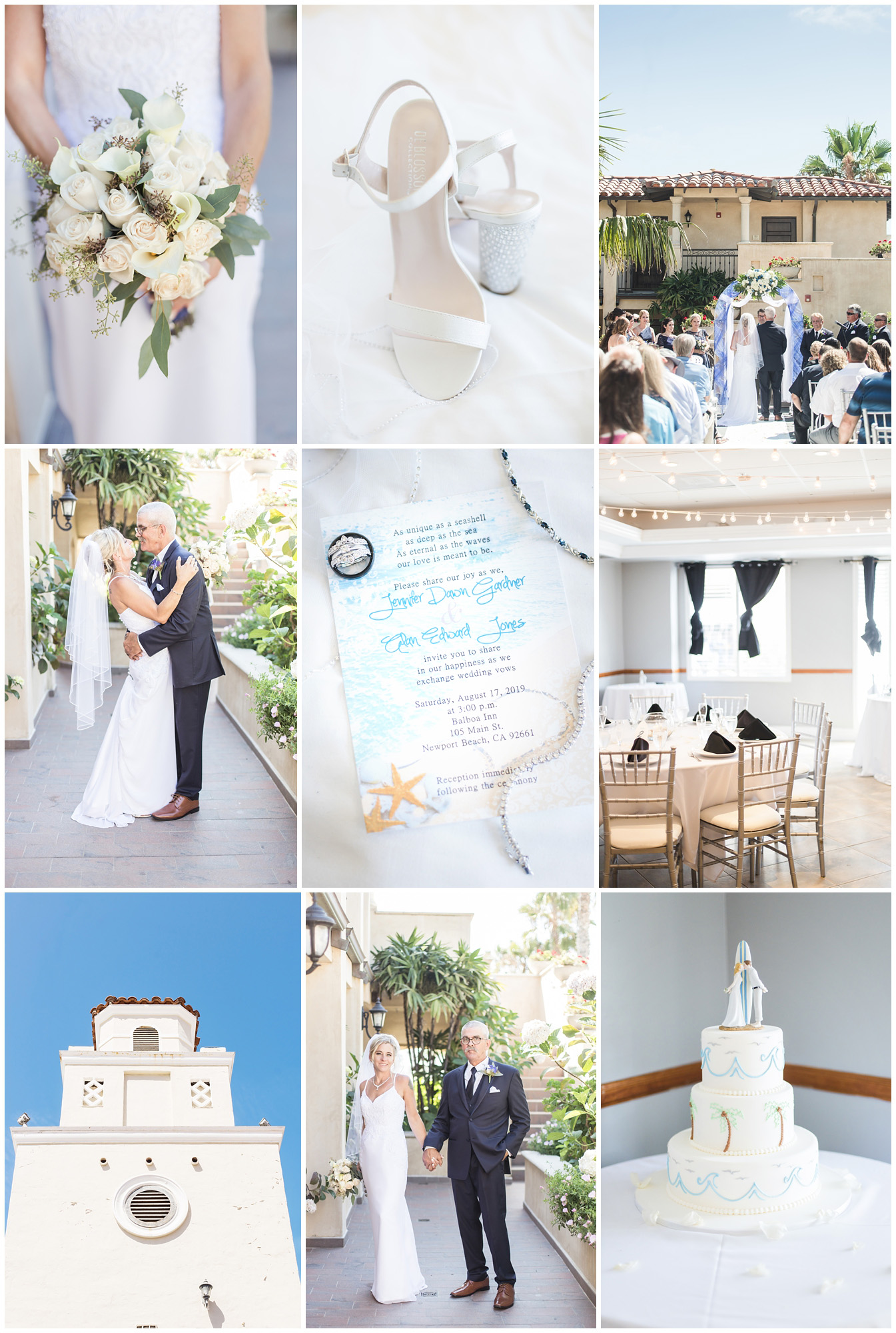 Balboa Inn Newport Beach California Wedding Reception Carrie Vines Photography