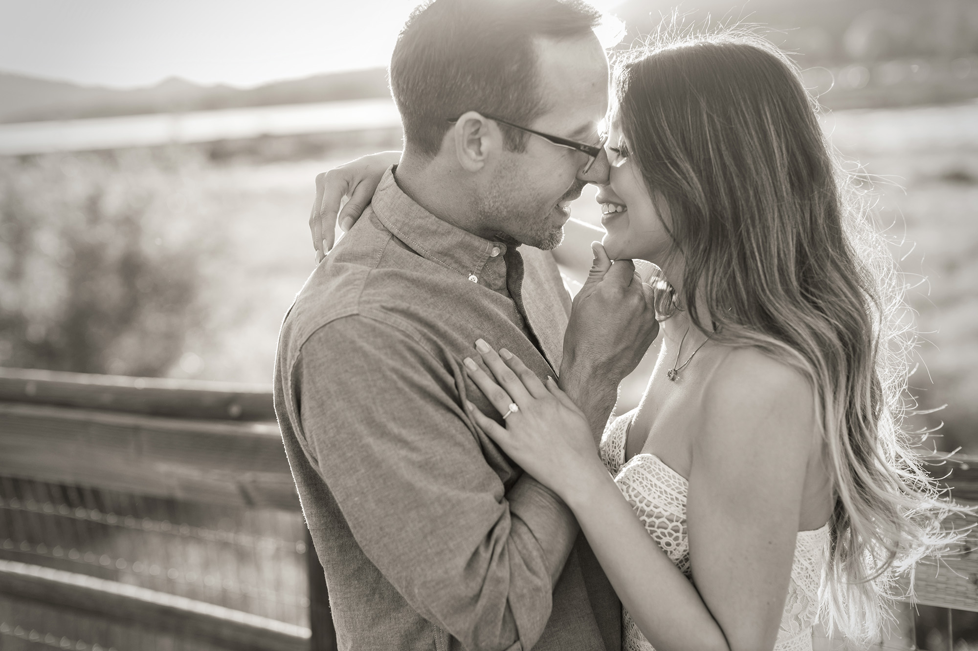 Romantic Big Bear Engagement session carrie vines photography