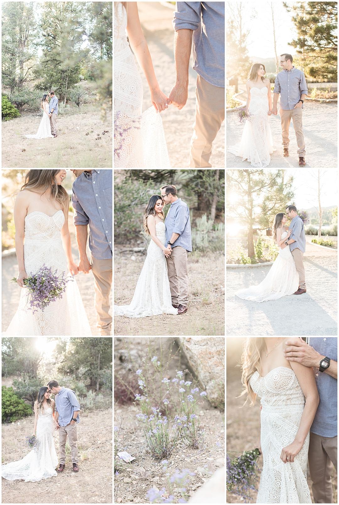 Romantic Big Bear engagement session, lavender wildflowers, Big Bear Lake Wedding Photographer, Carrie Vines Photography
