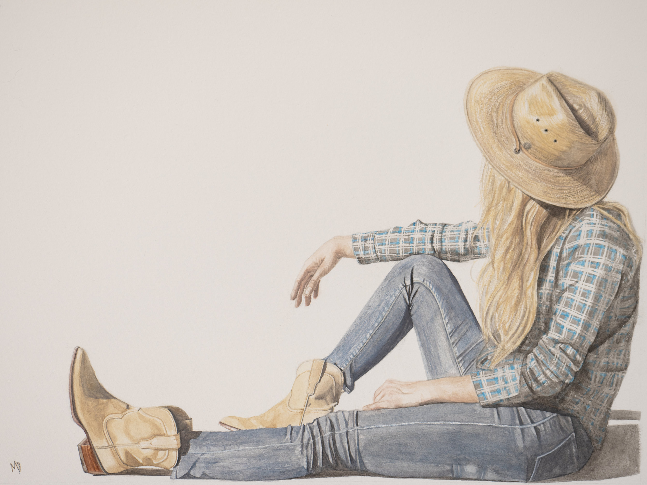 Katie | 18 x 24 inches | watercolor on paper | reserved