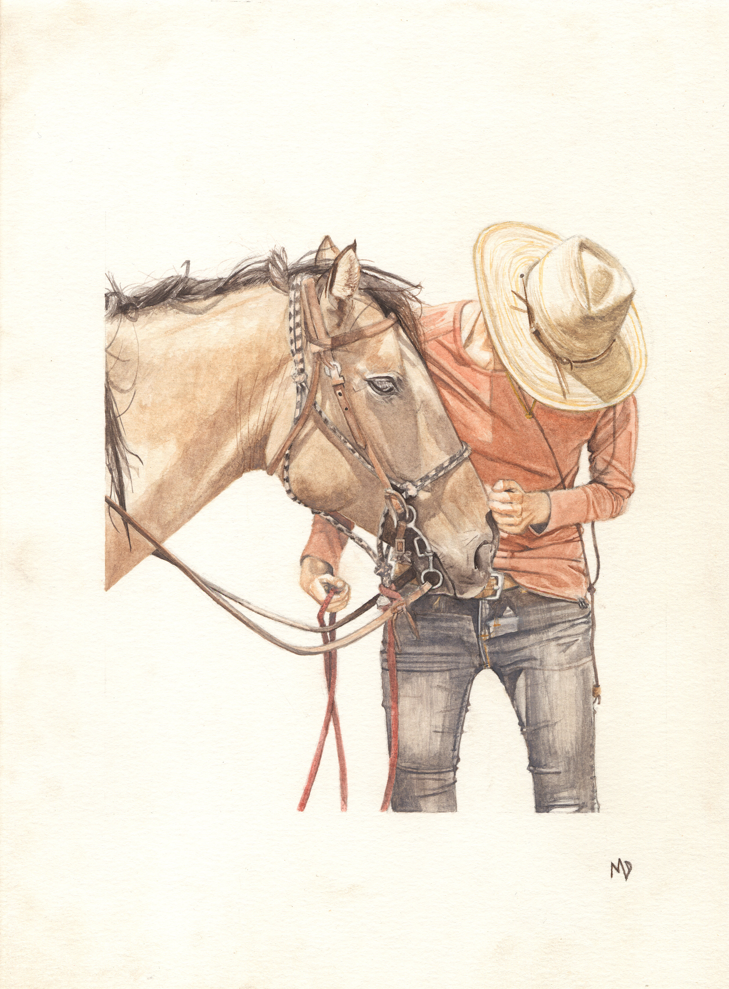 moxie | 8 x 10 inches | watercolor on paper | private collection