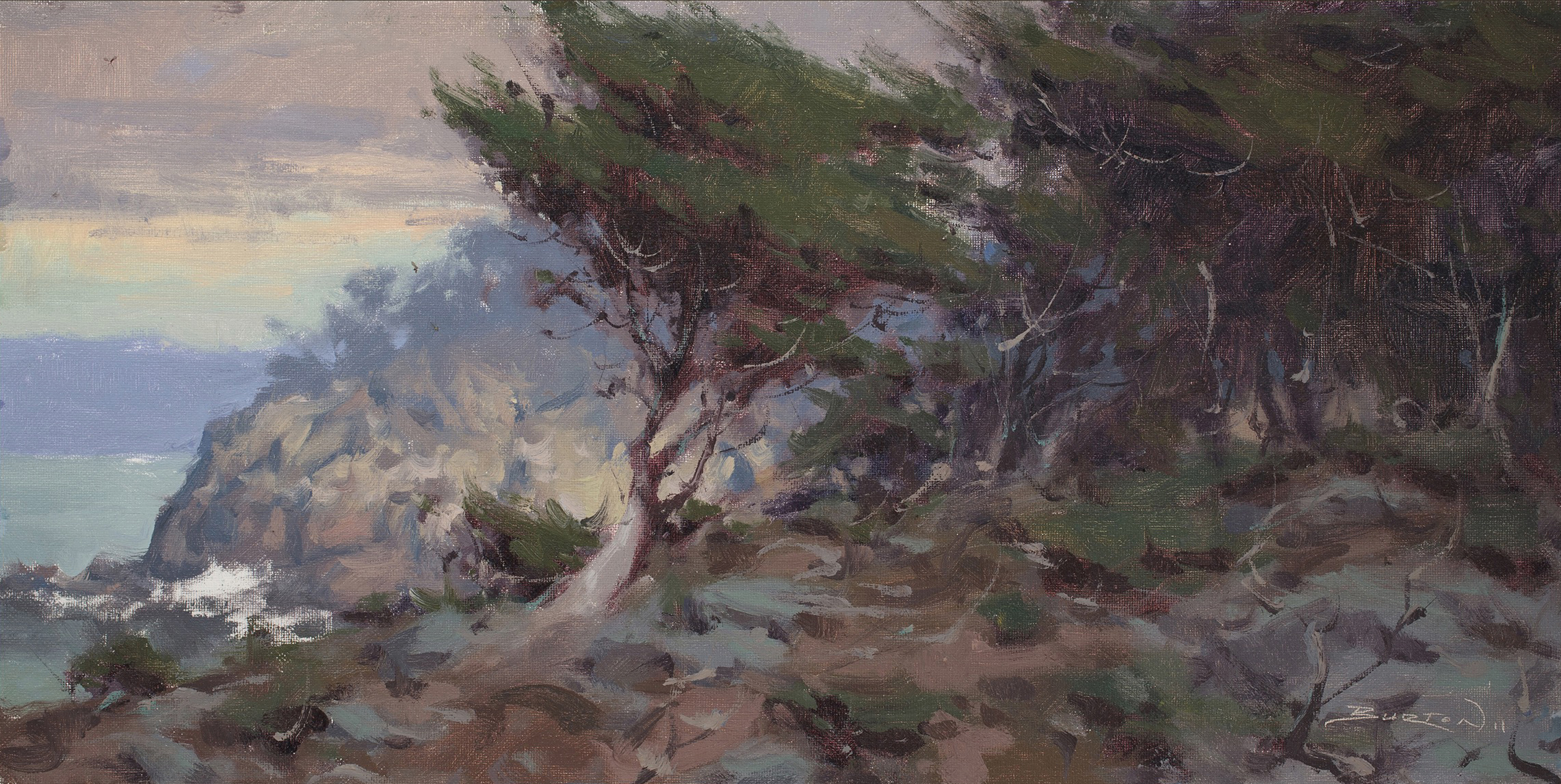 Burton_Oil_Gabor Point Lobos Rain.jpg