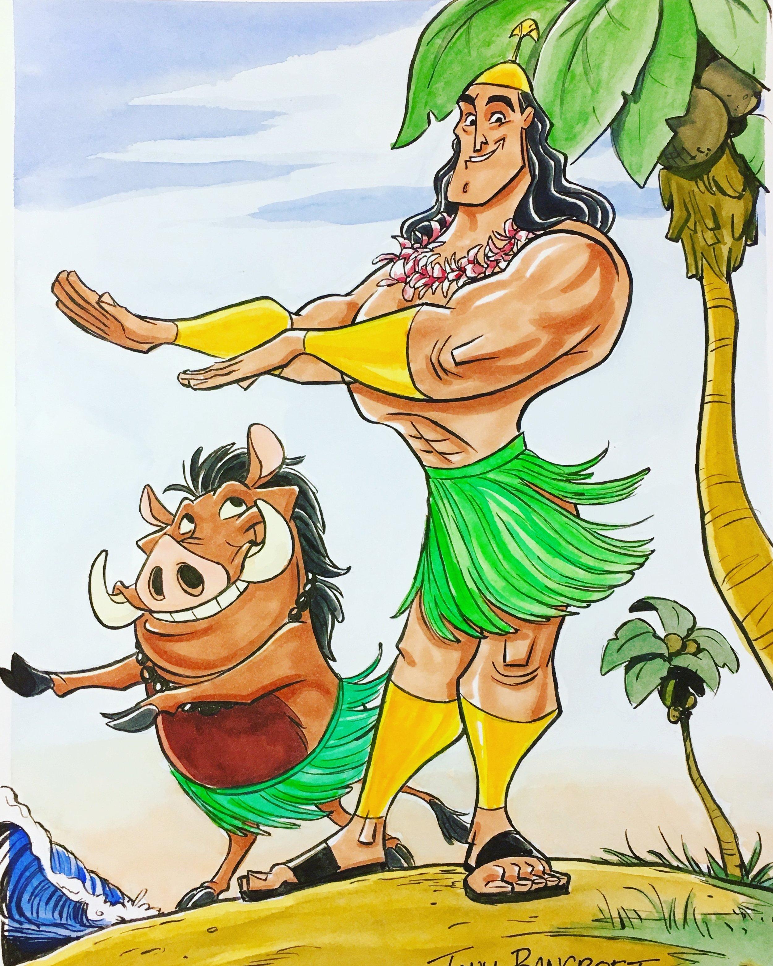 Hula Kronk and Pumbaa 2.jpg