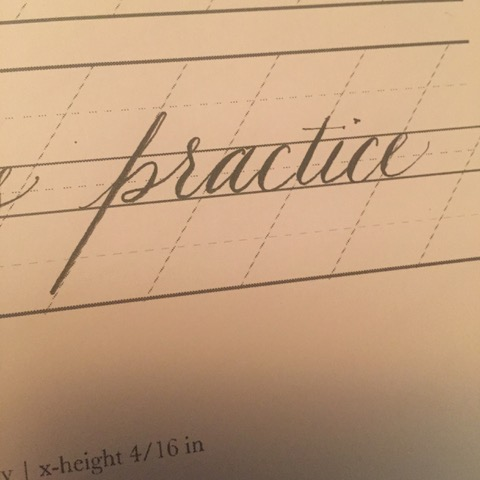 First attempt at copperplate