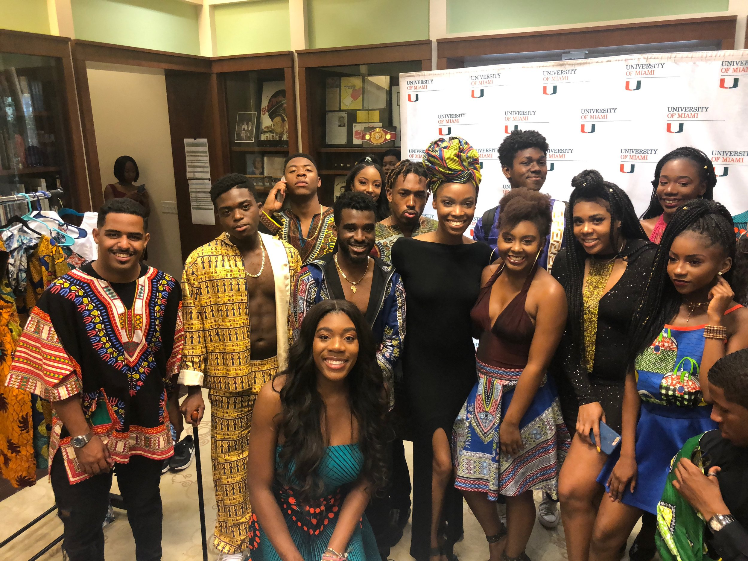 Some of the models and I! Black Excellence